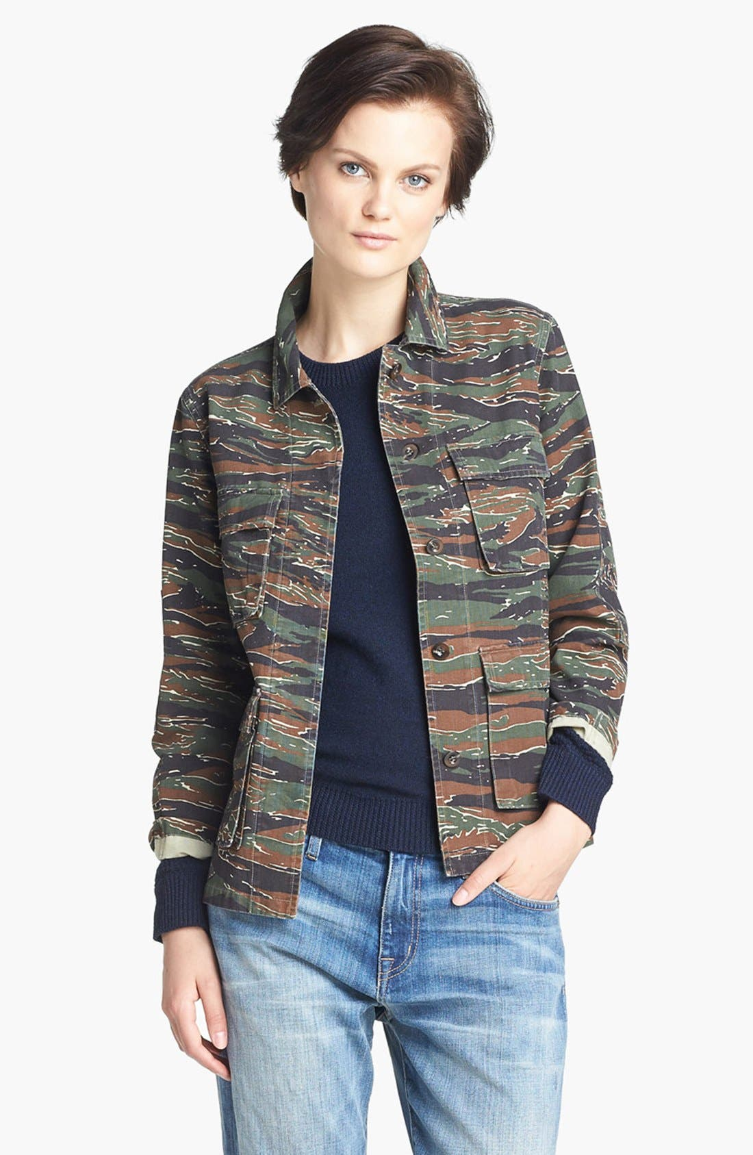 Alternate Image 1 Selected - A.P.C. Vintage Camouflage Jacket