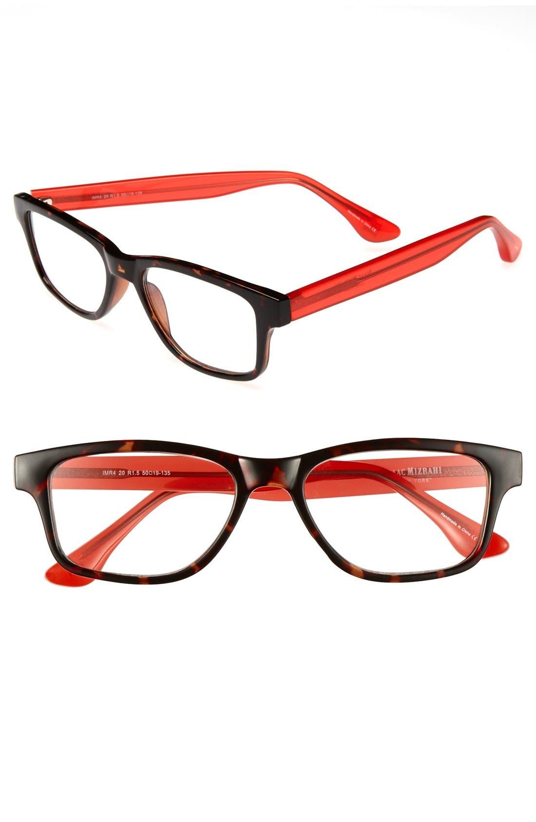 Main Image - Isaac Mizrahi New York 50mm Rectangular Reading Glasses