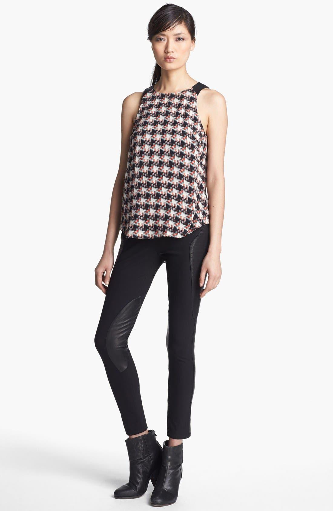 Alternate Image 2  - rag & bone 'Ilford' Leather Panel Pants