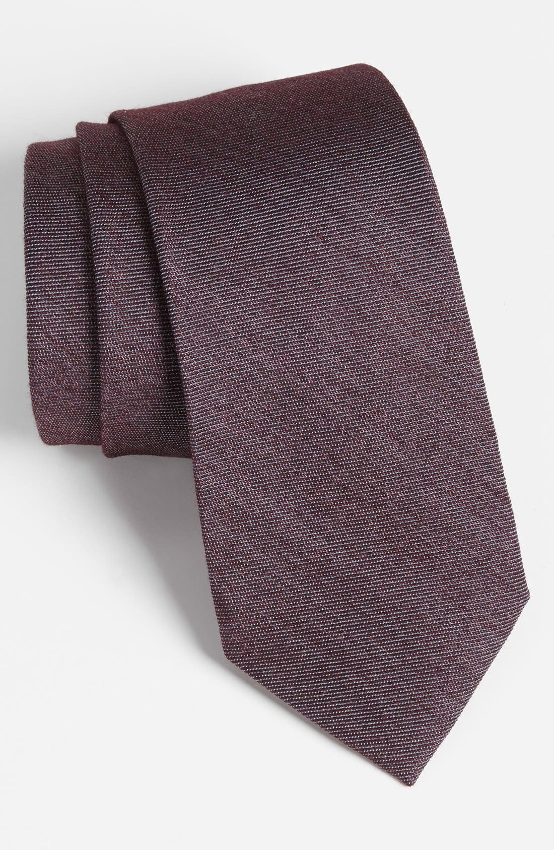 Alternate Image 1 Selected - Z Zegna Woven Silk & Wool Tie