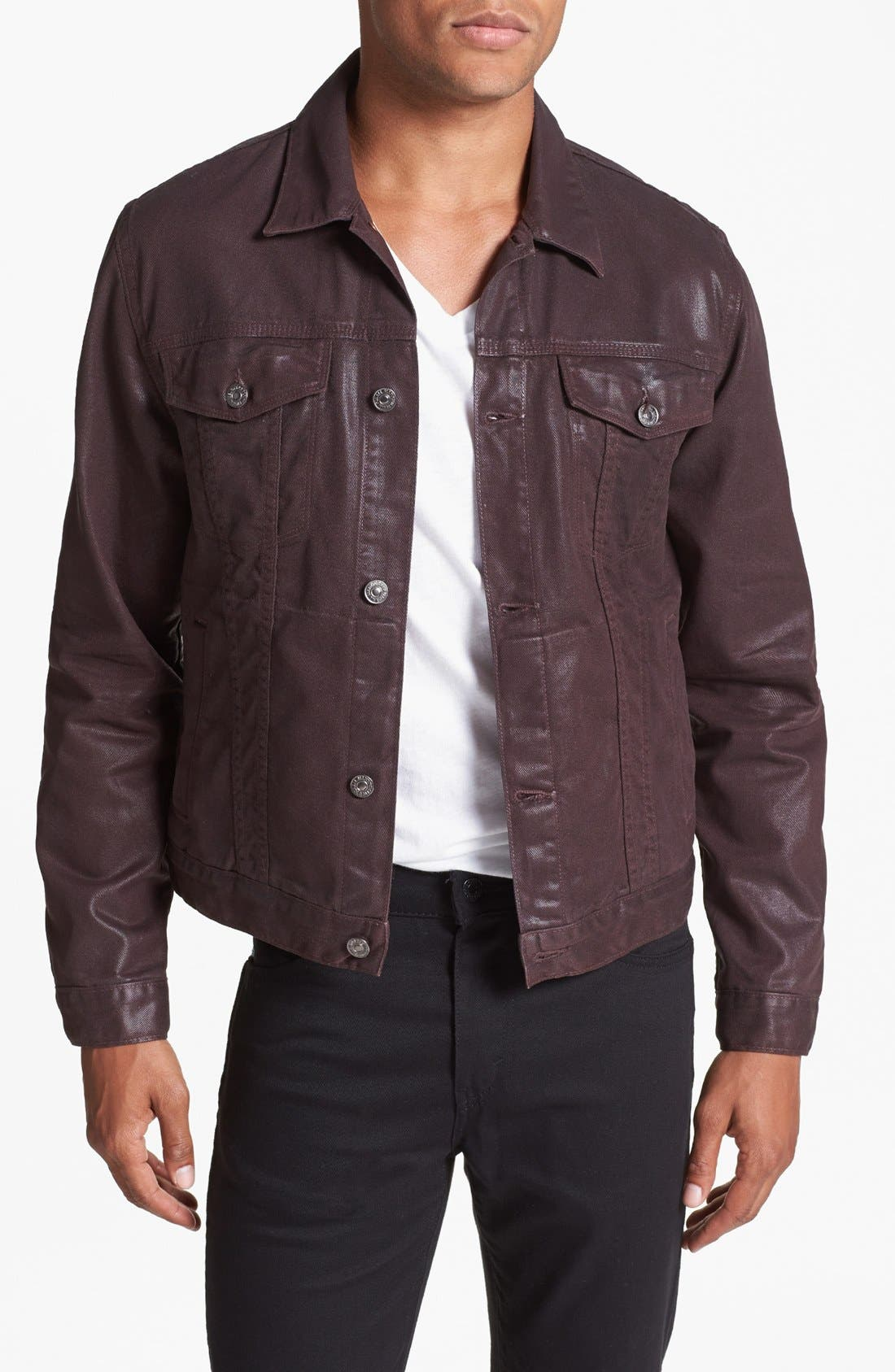 Alternate Image 1  - 7 For All Mankind® Coated Denim Jacket