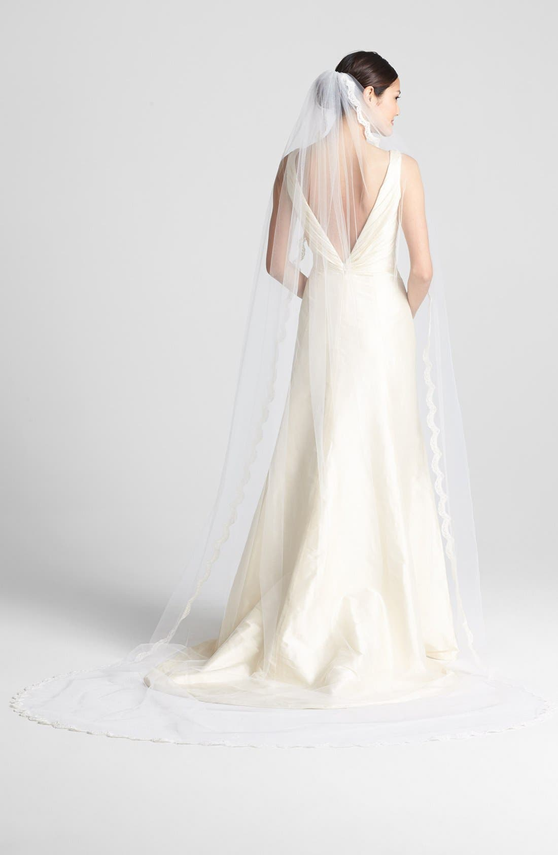 Alternate Image 1 Selected - Wedding Belles New York 'Isabelle' Cathedral Veil (Nordstrom Exclusive)