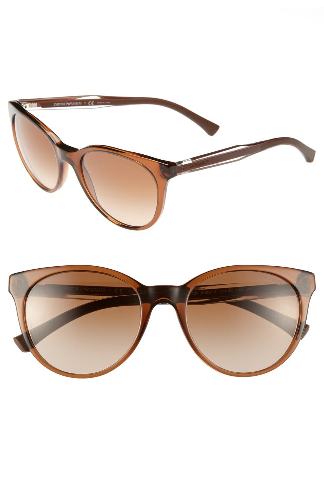 Alternate Image 1 Selected - Emporio Armani 55mm Sunglasses