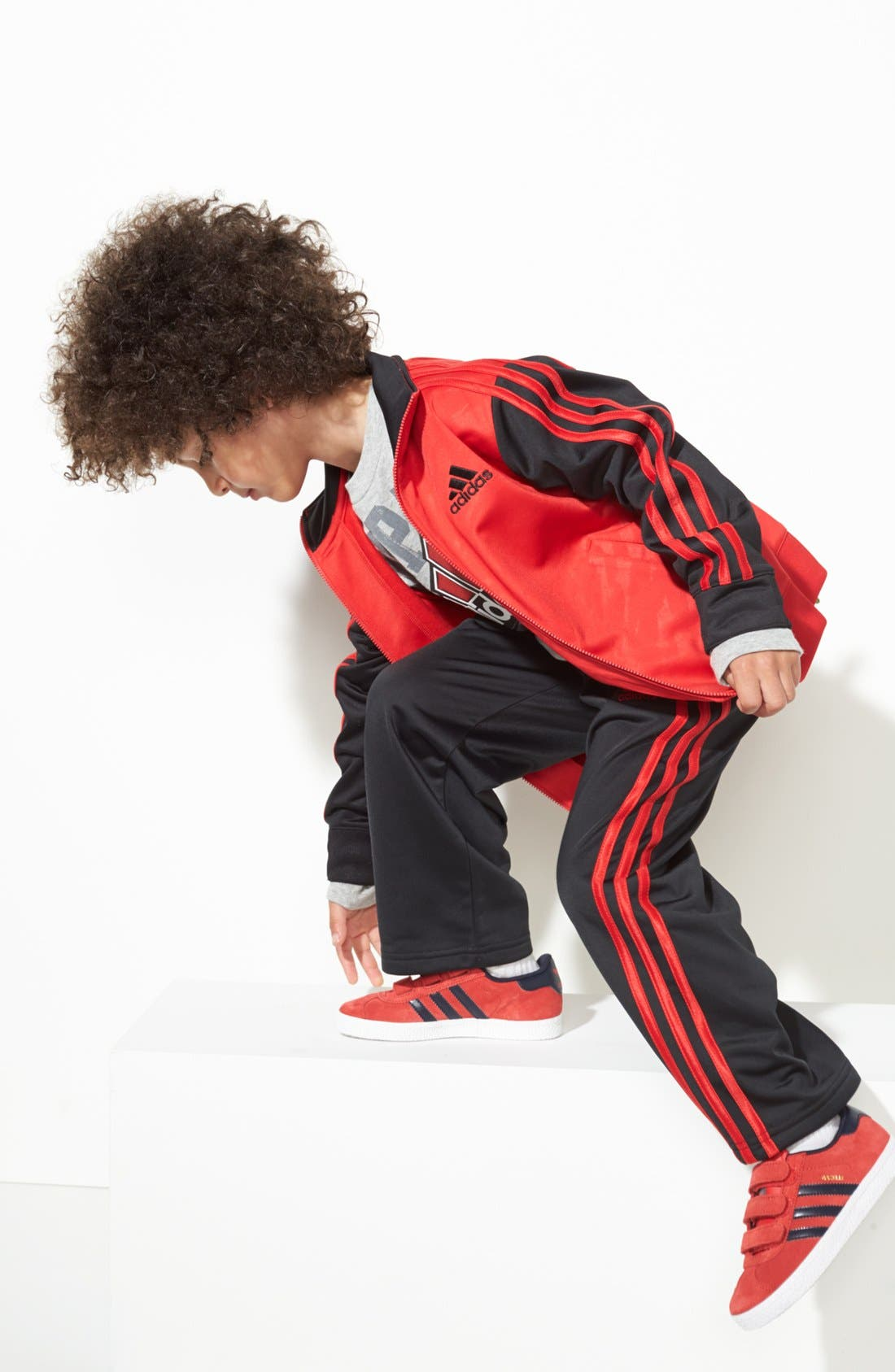 Alternate Image 2  - adidas 'Impact' Varsity Jacket (Little Boys)
