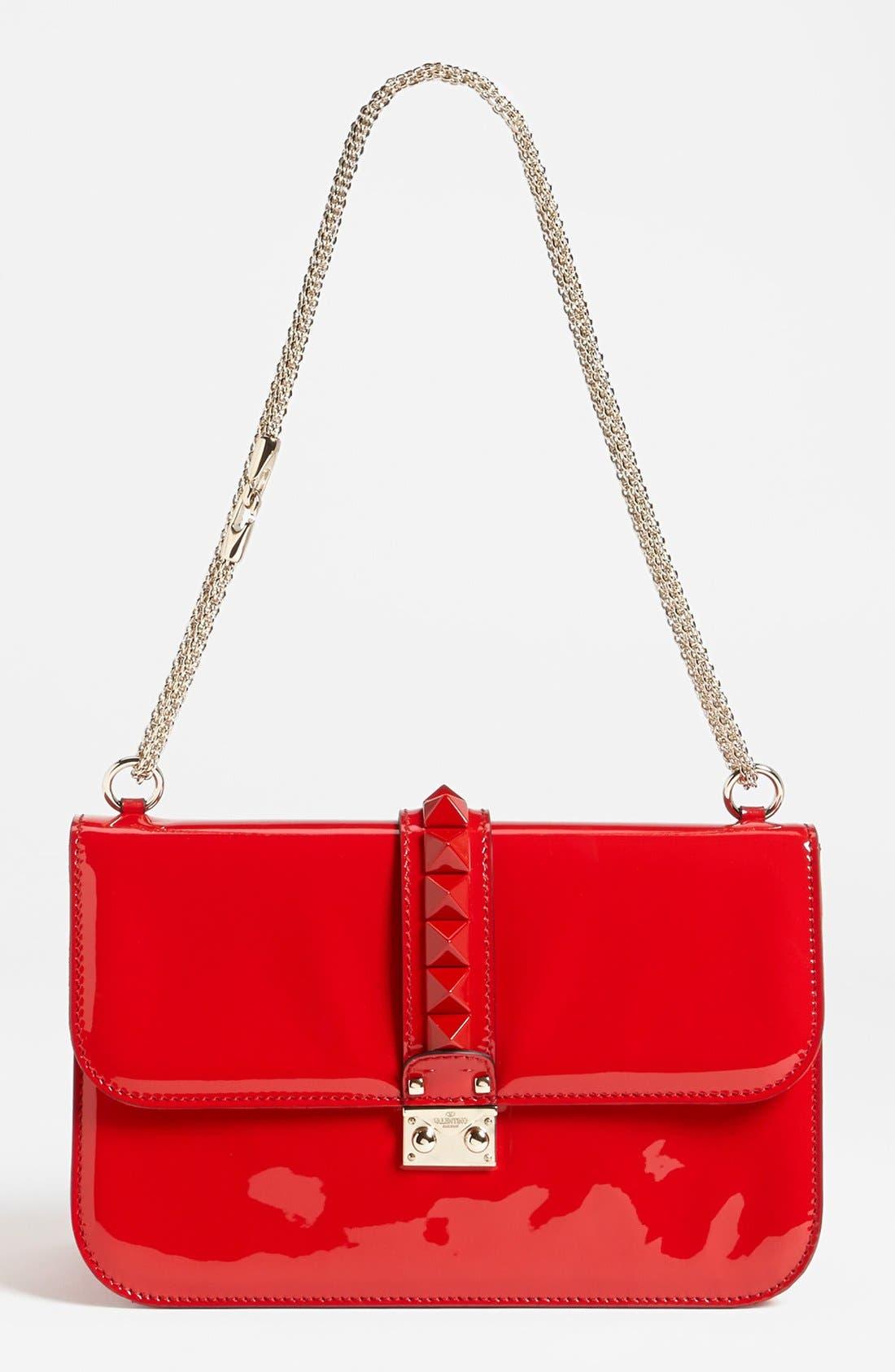 Main Image - Valentino 'Punkouture - Lock' Leather Shoulder Bag
