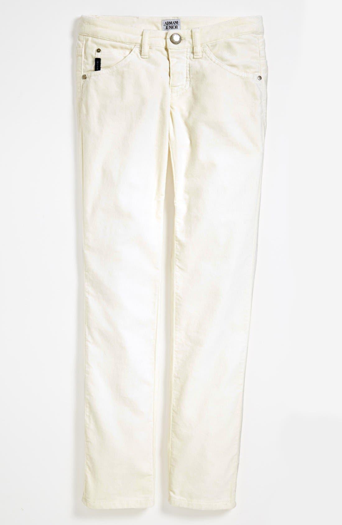 Alternate Image 2  - Armani Junior Velvet Pants (Big Girls)