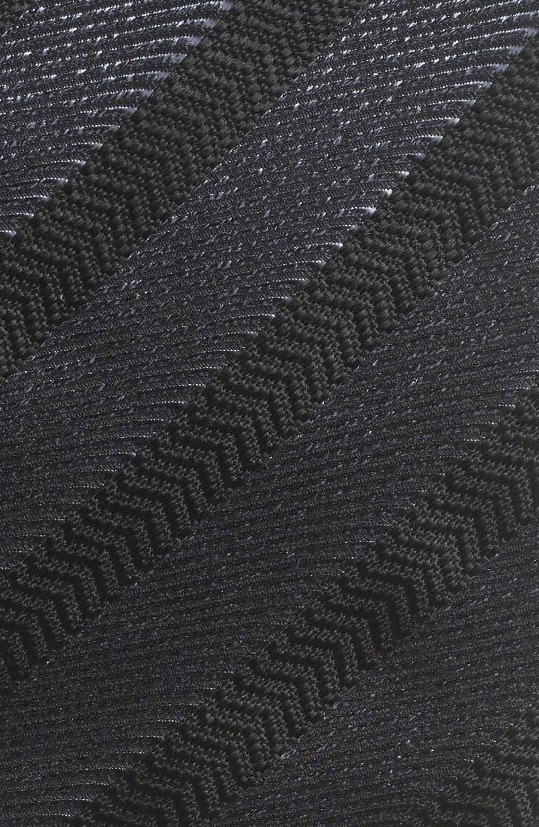 Alternate Image 2  - Yves Saint Laurent Woven Herringbone Tie