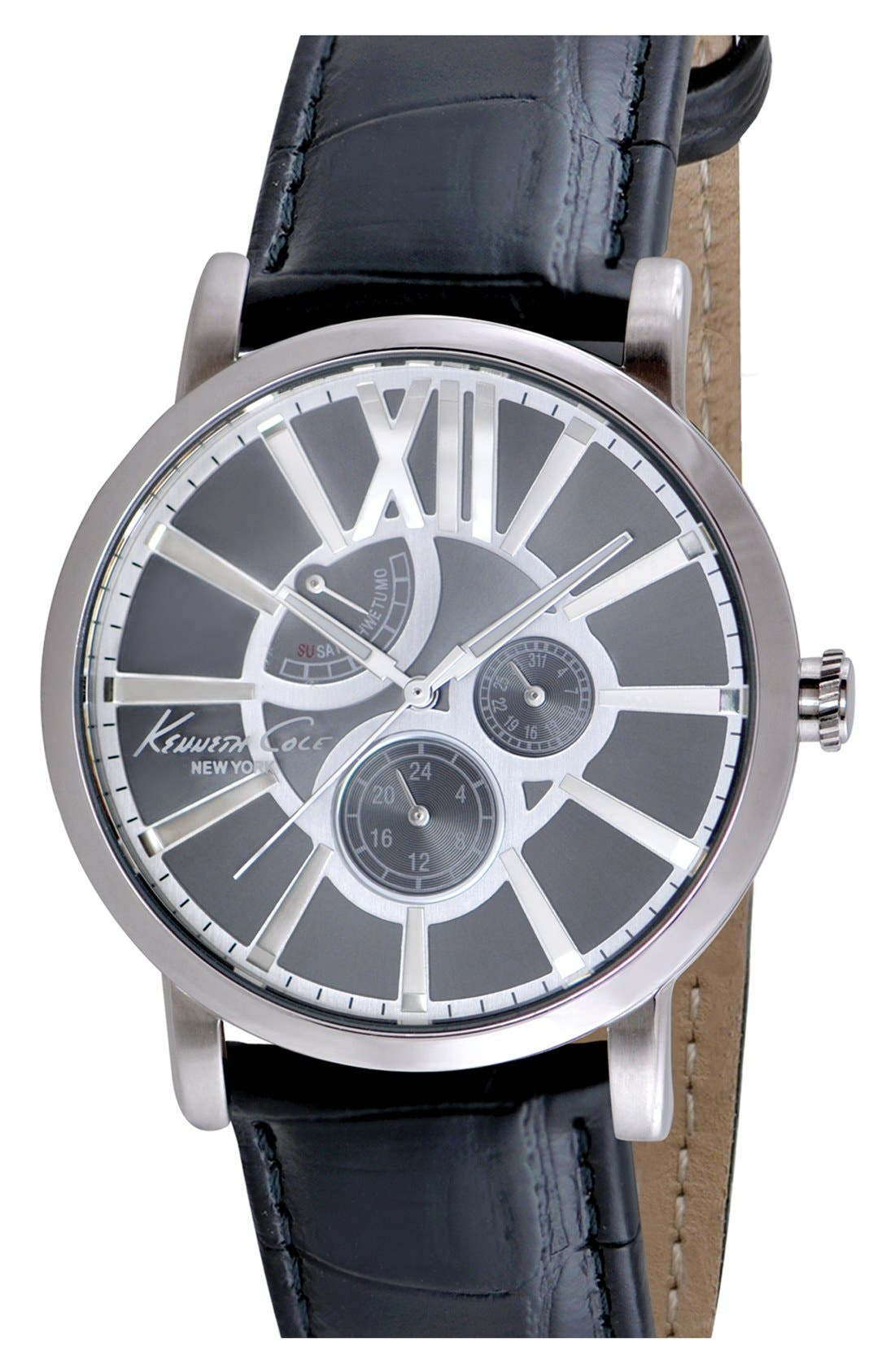 Main Image - Kenneth Cole New York Multifunction Watch, 44mm