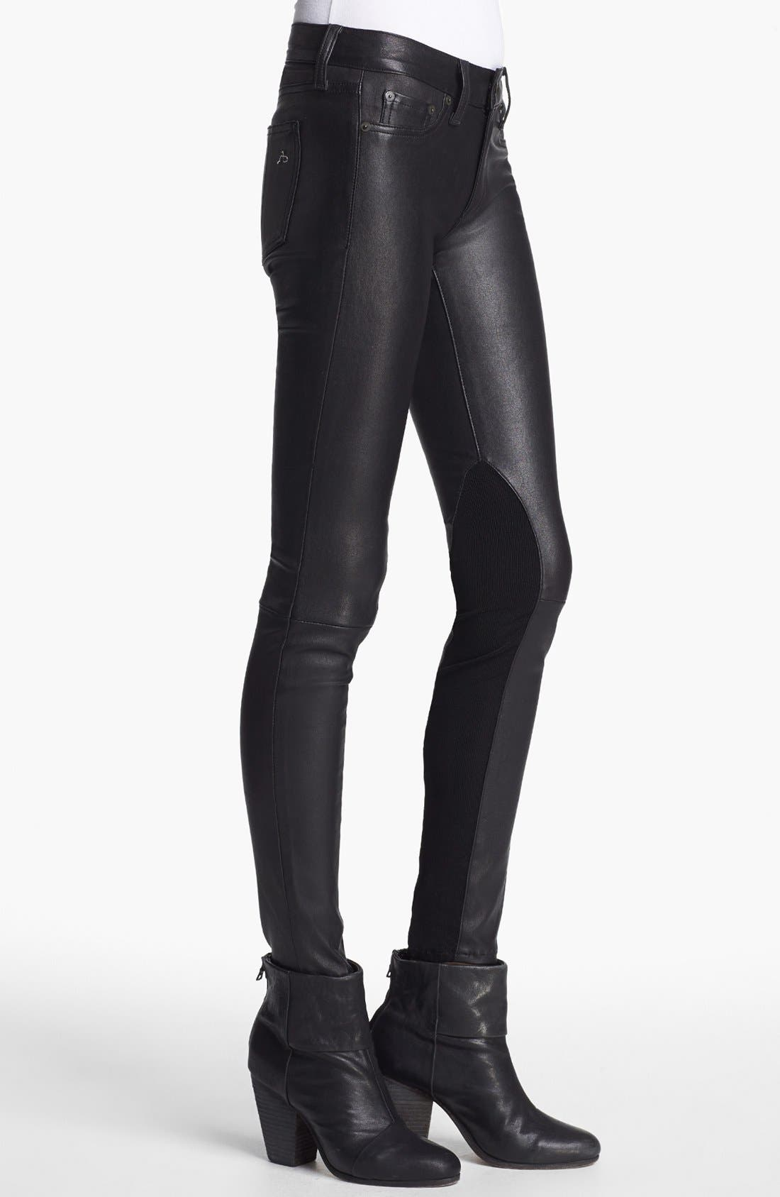 Alternate Image 3  - rag & bone/JEAN 'The Reverse' Leather Pants