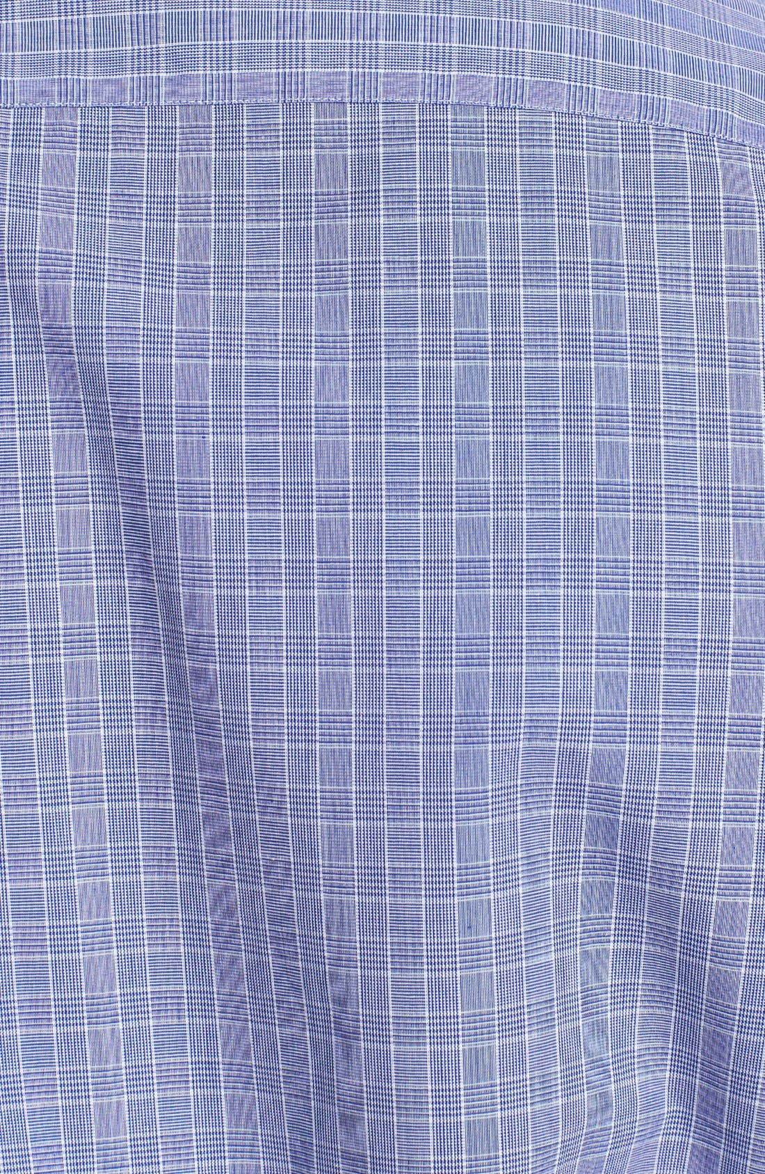 Alternate Image 3  - Z Zegna Slim Fit Glen Plaid Woven Shirt
