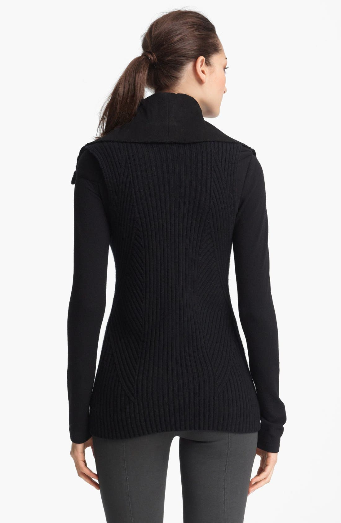 Alternate Image 2  - Donna Karan Collection Wool & Cashmere Sleeveless Knit Jacket