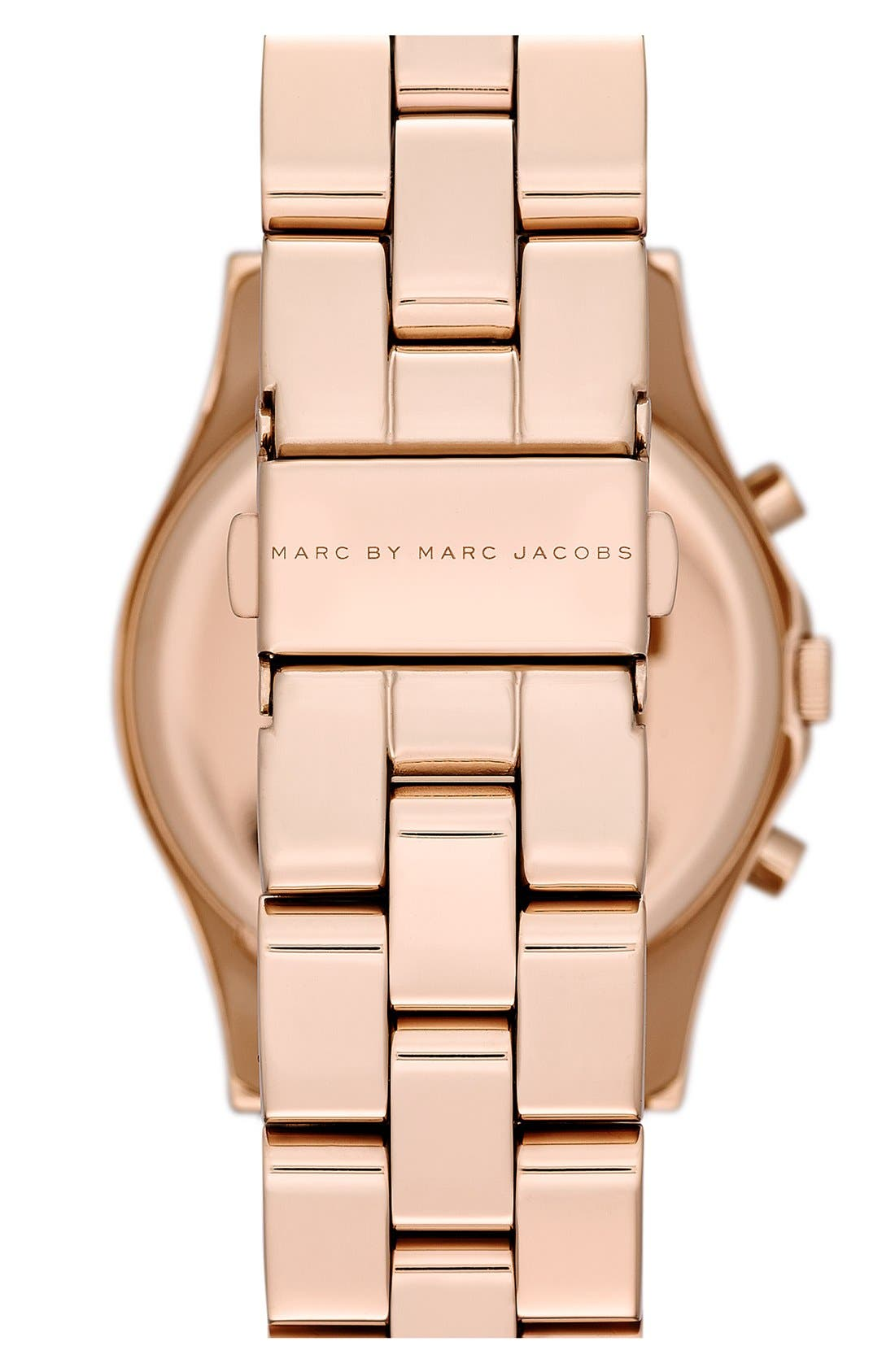 Alternate Image 2  - MARC JACOBS 'Henry' Chronograph & Crystal Topring Watch, 40mm
