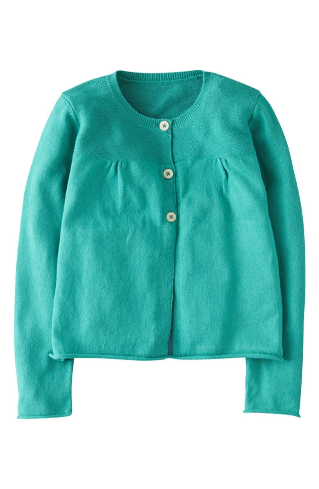Alternate Image 1 Selected - Mini Boden 'Everyday' Cardigan (Little Girls & Big Girls)