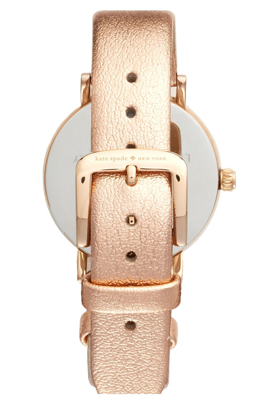 Alternate Image 2  - kate spade new york 'metro' metallic strap watch, 34mm