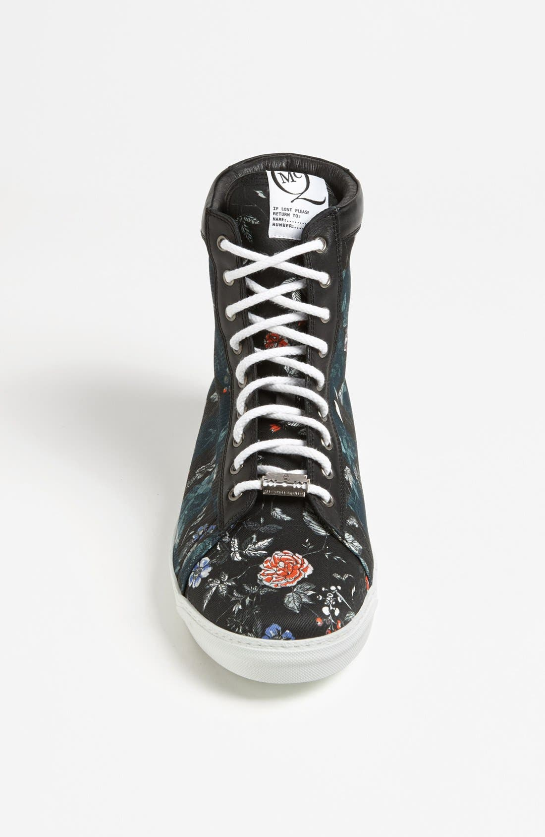 Alternate Image 3  - McQ by Alexander McQueen Floral High Cut Sneaker