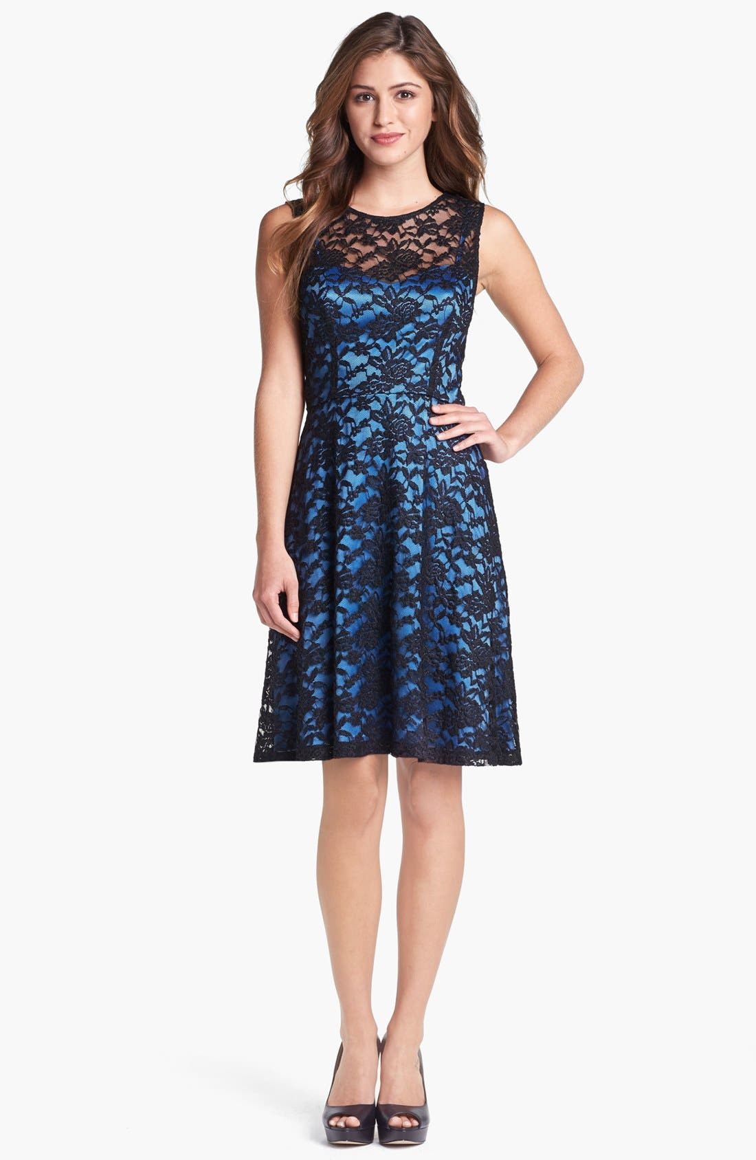 Alternate Image 1 Selected - Ivy & Blu Lace Fit & Flare Dress