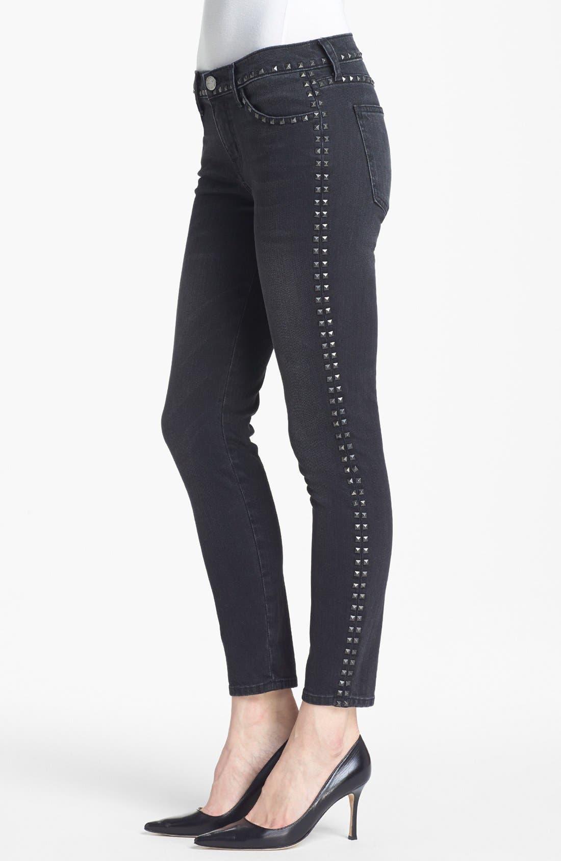 Alternate Image 3  - Current/Elliott 'The Crop Skinny' Studded Jeans