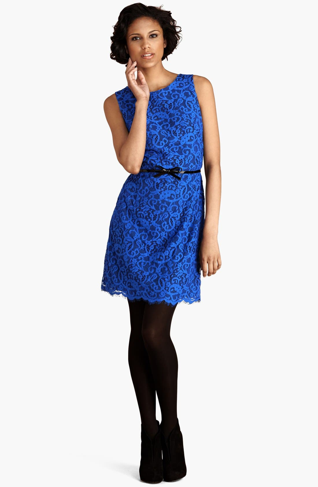 Main Image - Donna Morgan Lace Sheath Dress
