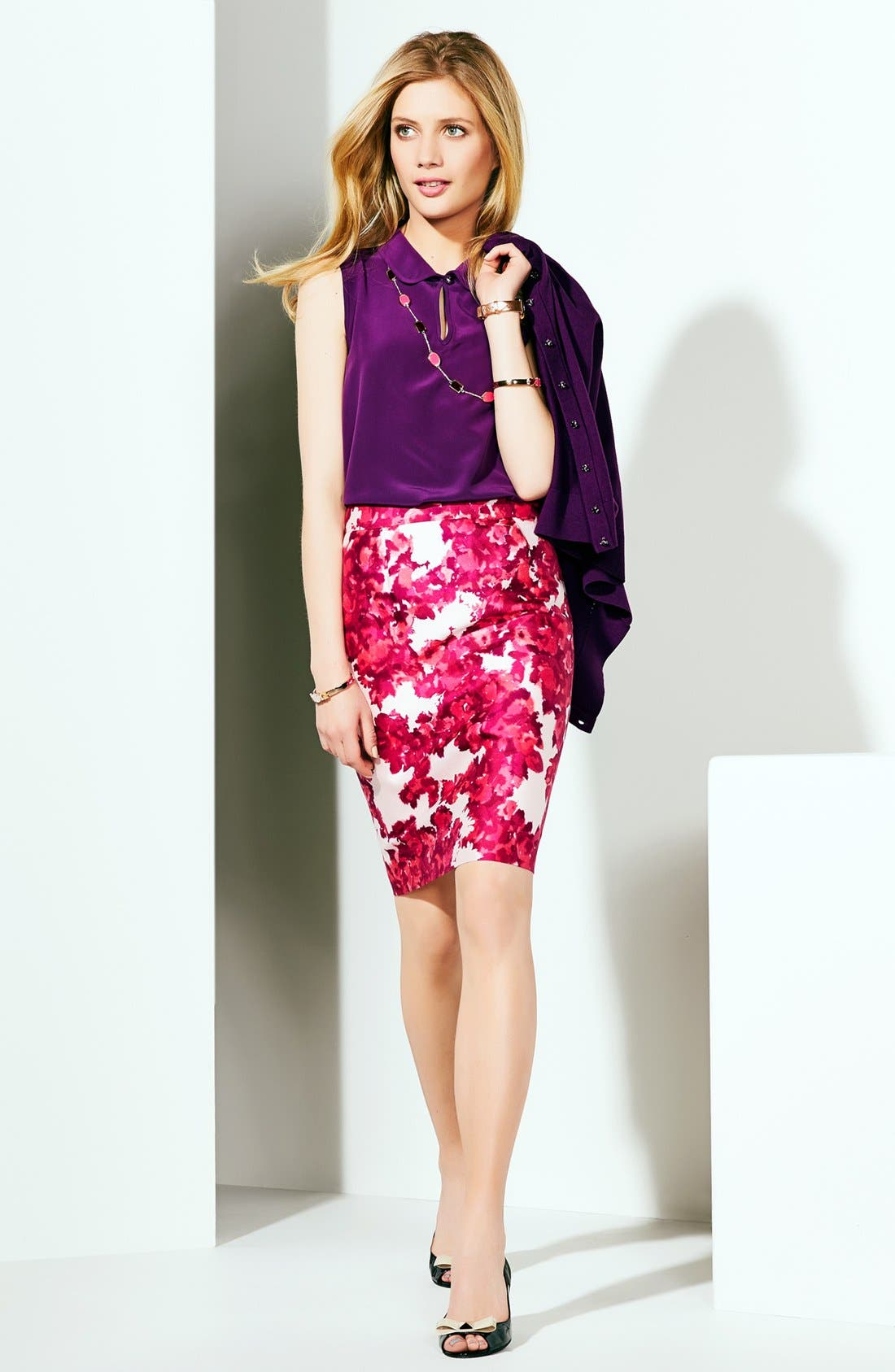 Alternate Image 5  - kate spade new york 'rosalind' silk top