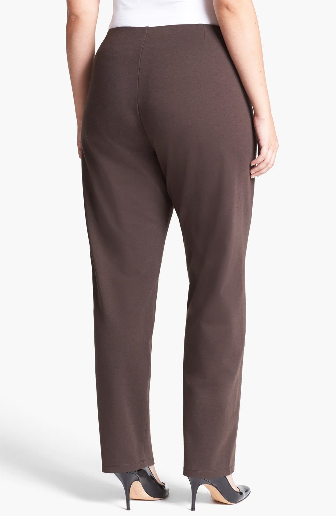 Alternate Image 2  - Eileen Fisher Stretch Knit Pants (Plus Size)