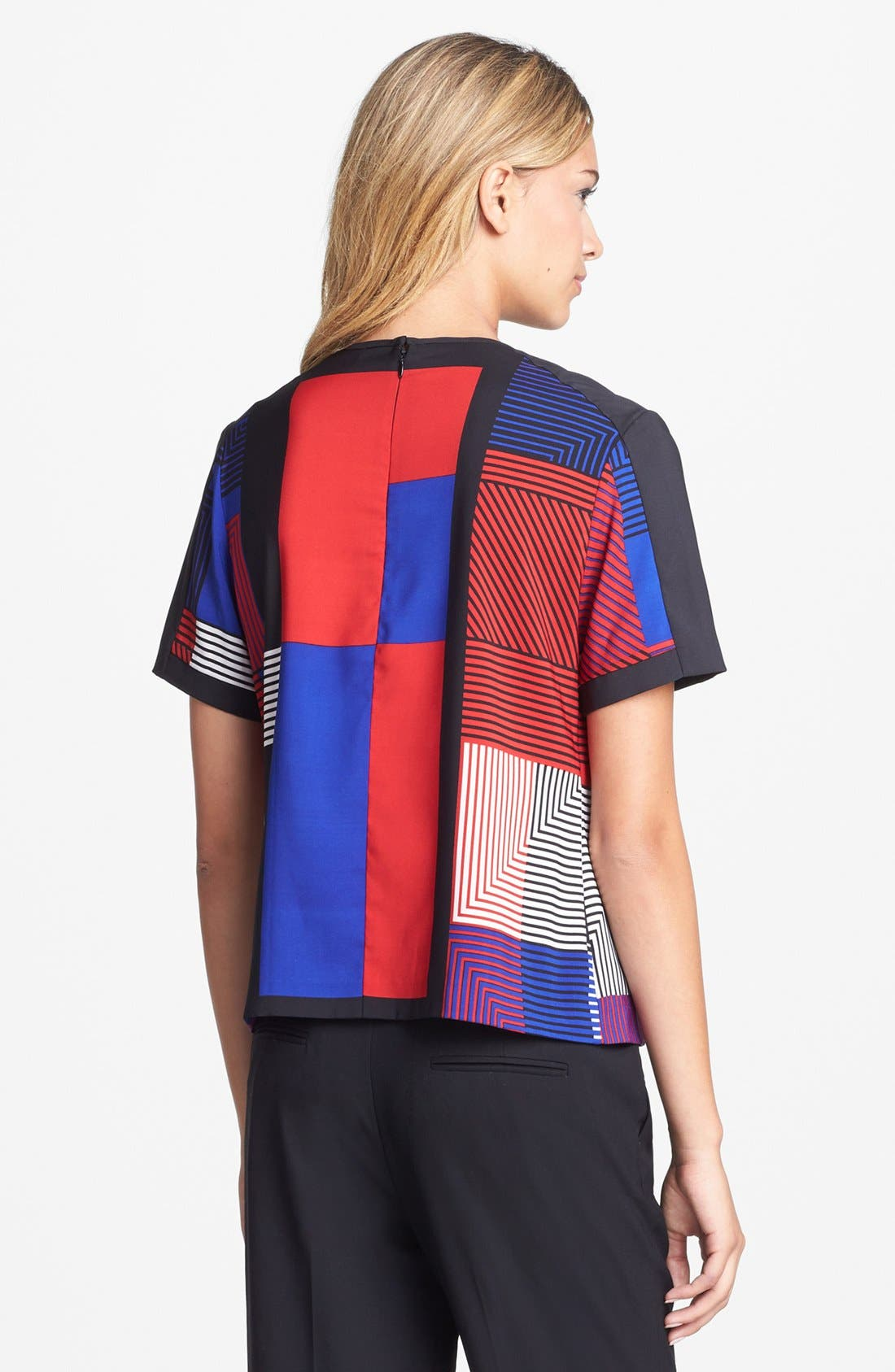 Alternate Image 2  - Vince Camuto Patchwork Colorblock Woven Top