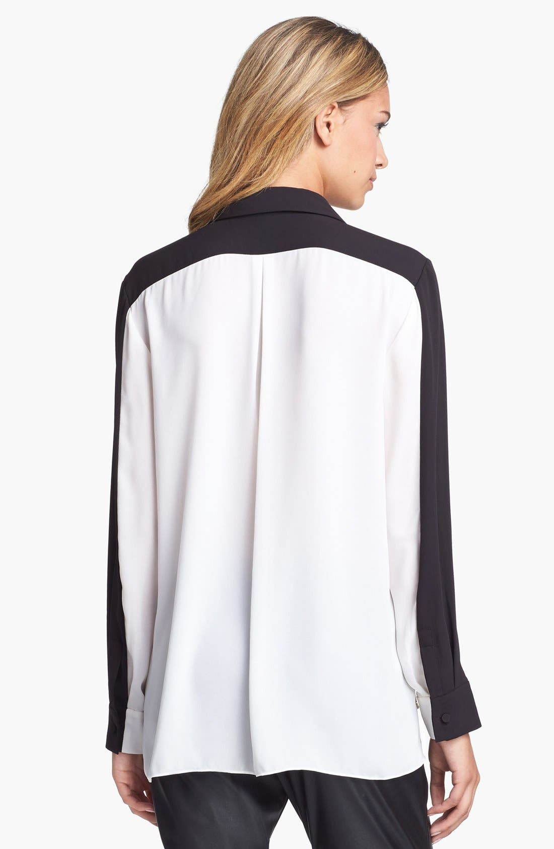 Alternate Image 3  - Vince Camuto Colorblock High/Low Blouse (Online Only)