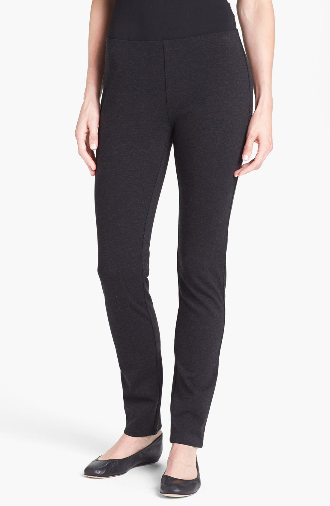 Main Image - Eileen Fisher Skinny Knit Pants