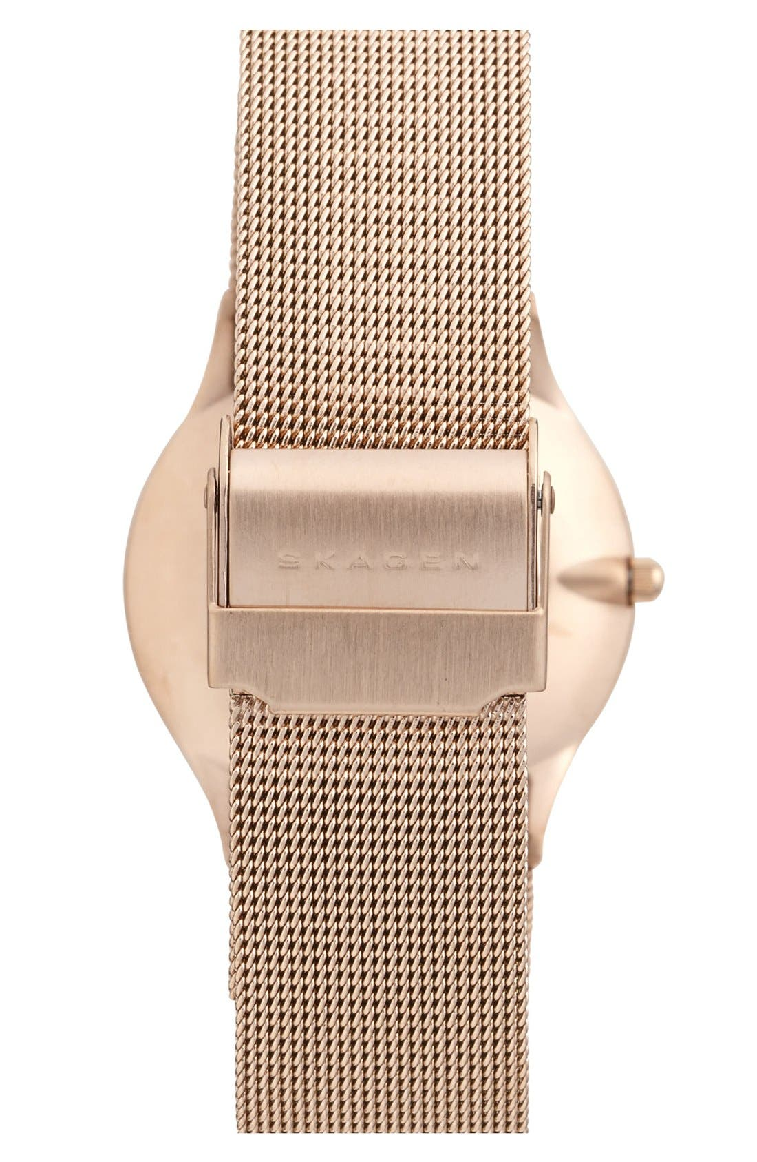 Alternate Image 2  - Skagen Round Mesh Strap Watch, 34mm