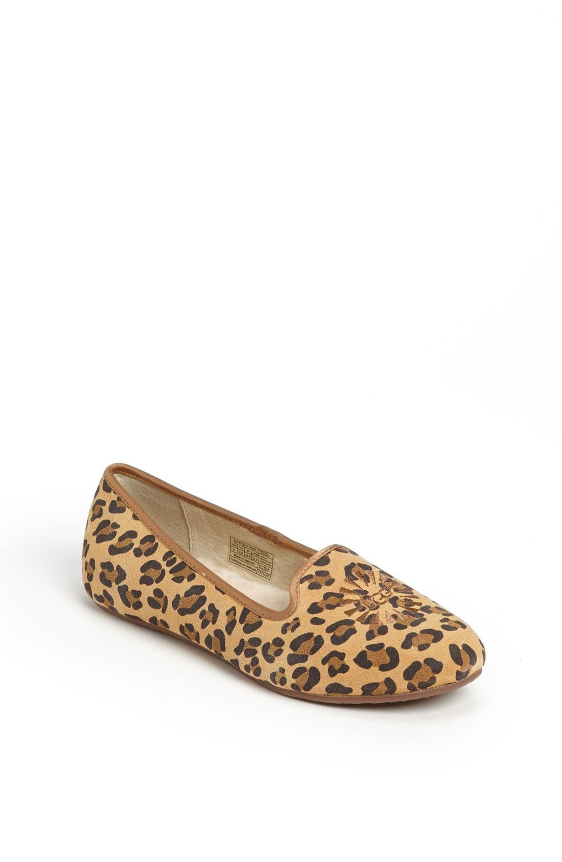 Alternate Image 1 Selected - UGG® Australia 'Carey - Leopard' Flat (Little Kid & Big Kid)