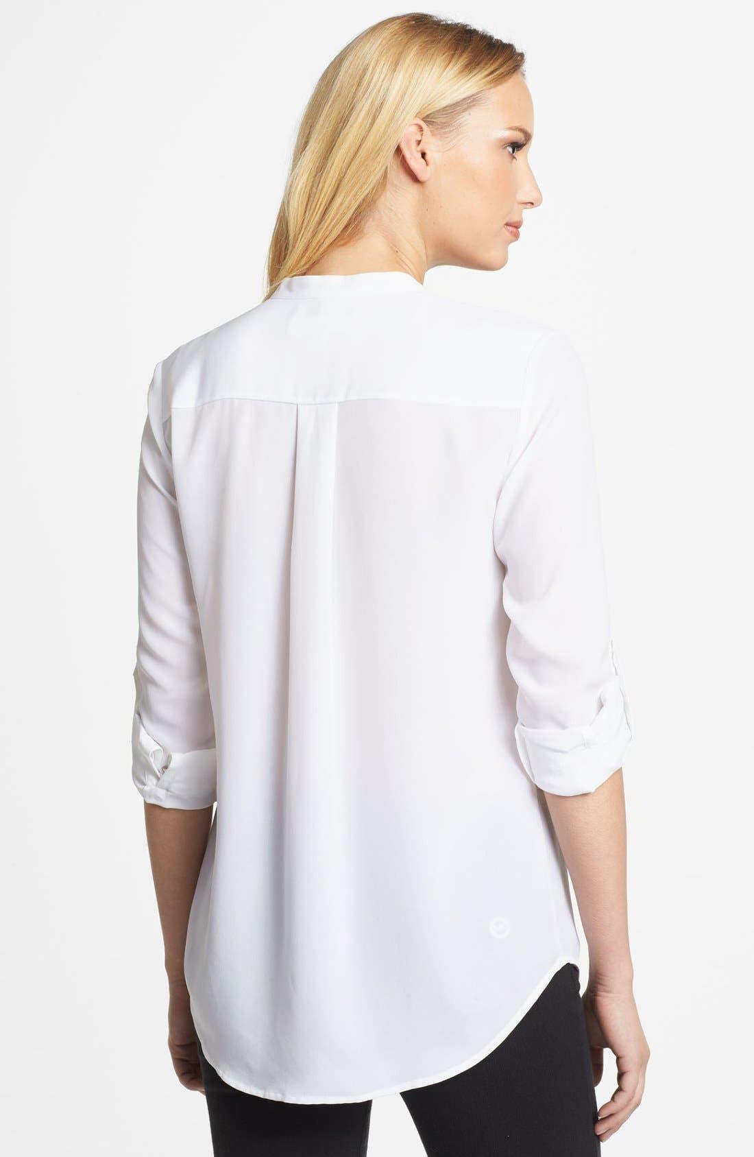 Alternate Image 2  - MICHAEL Michael Kors Tuxedo Pleated Shirt