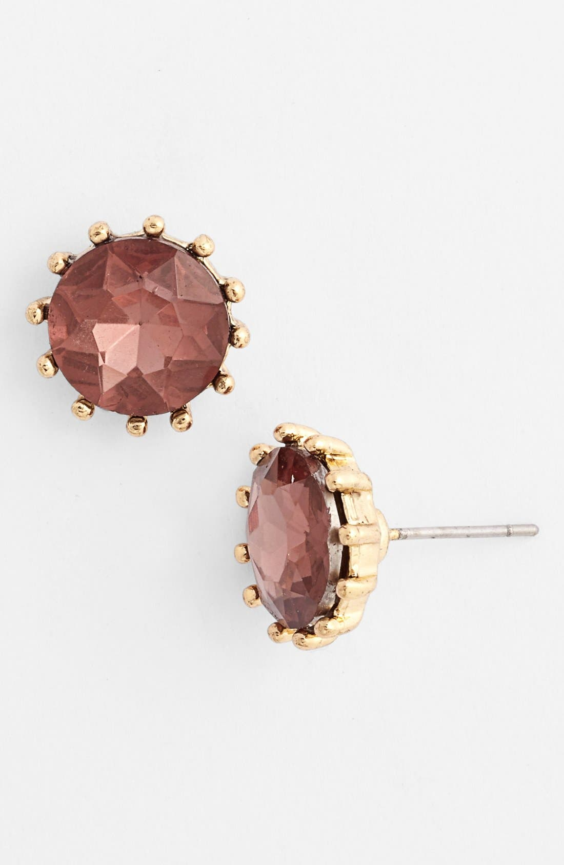 Alternate Image 1 Selected - Anne Klein Stone Stud Earrings