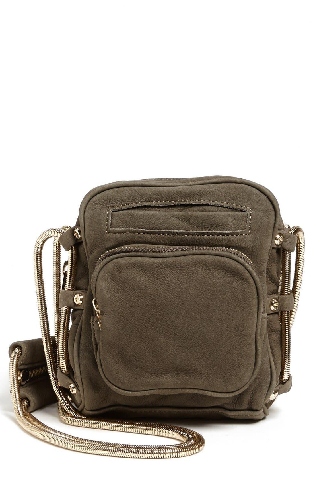 Alternate Image 1 Selected - Alexander Wang 'Brenda - Pale Gold' Nubuck Leather Shoulder Bag, Small