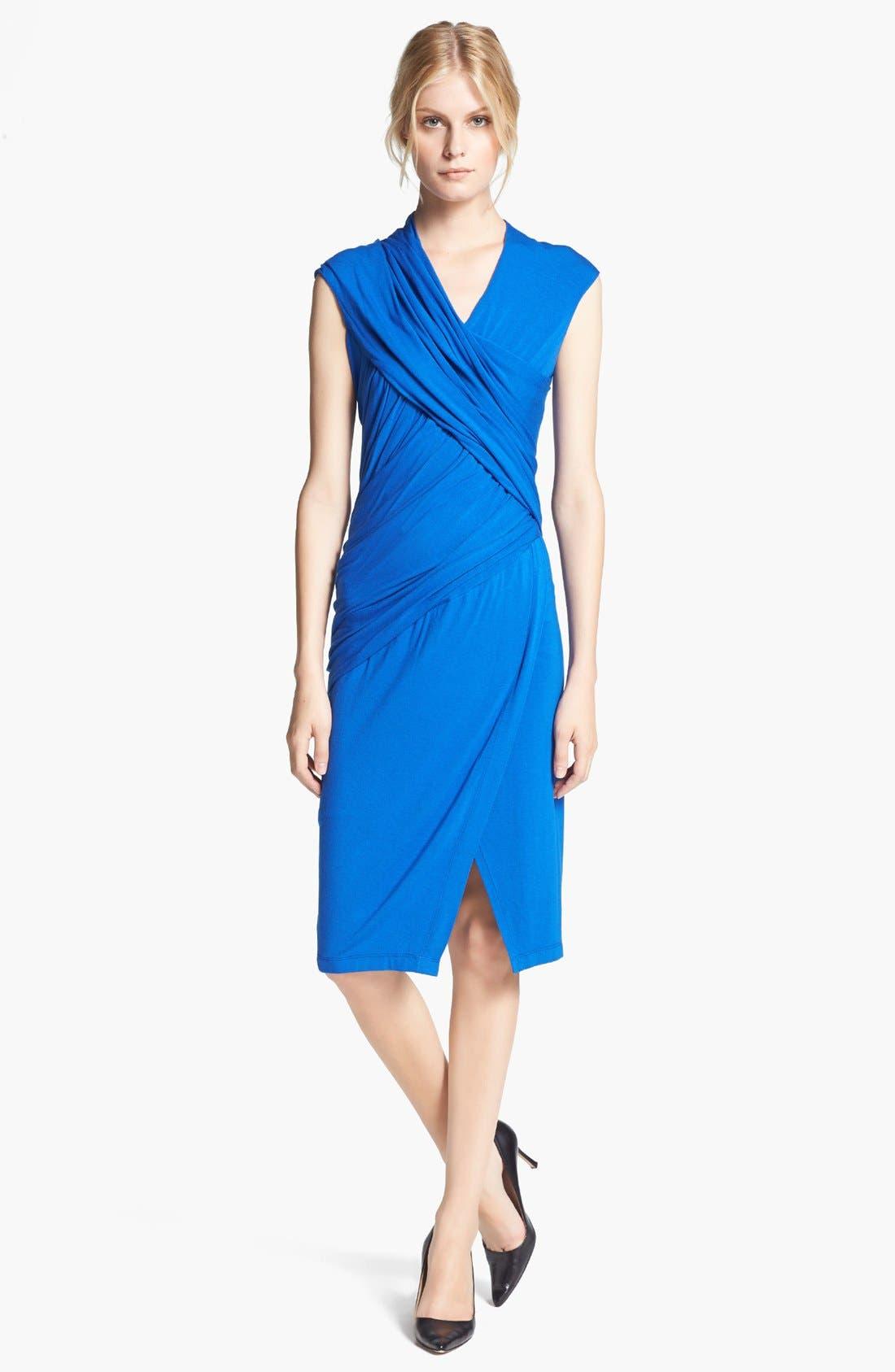 Main Image - Donna Karan Collection Draped Mélange Jersey Dress