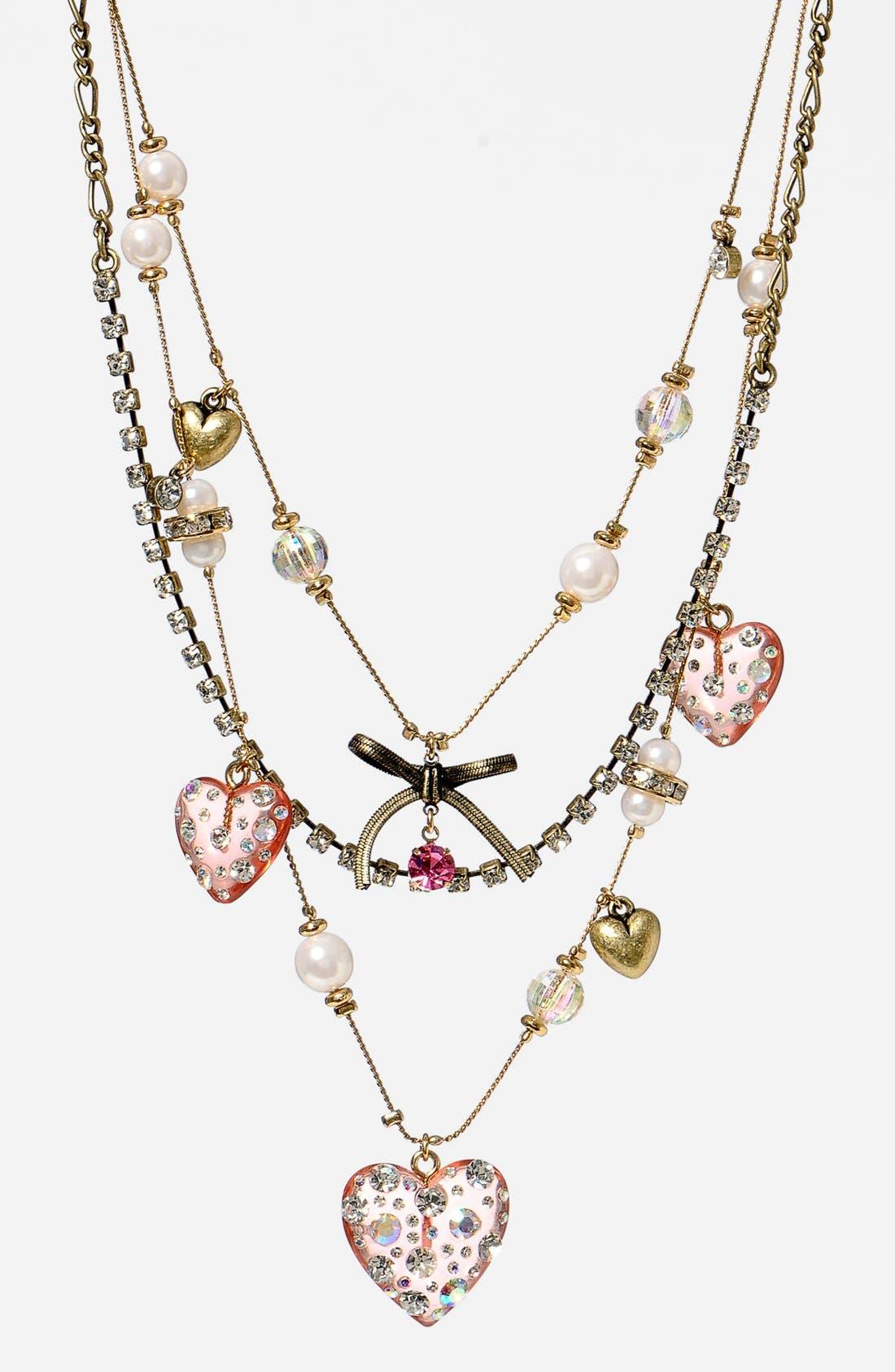 Main Image - Betsey Johnson Multistrand Necklace