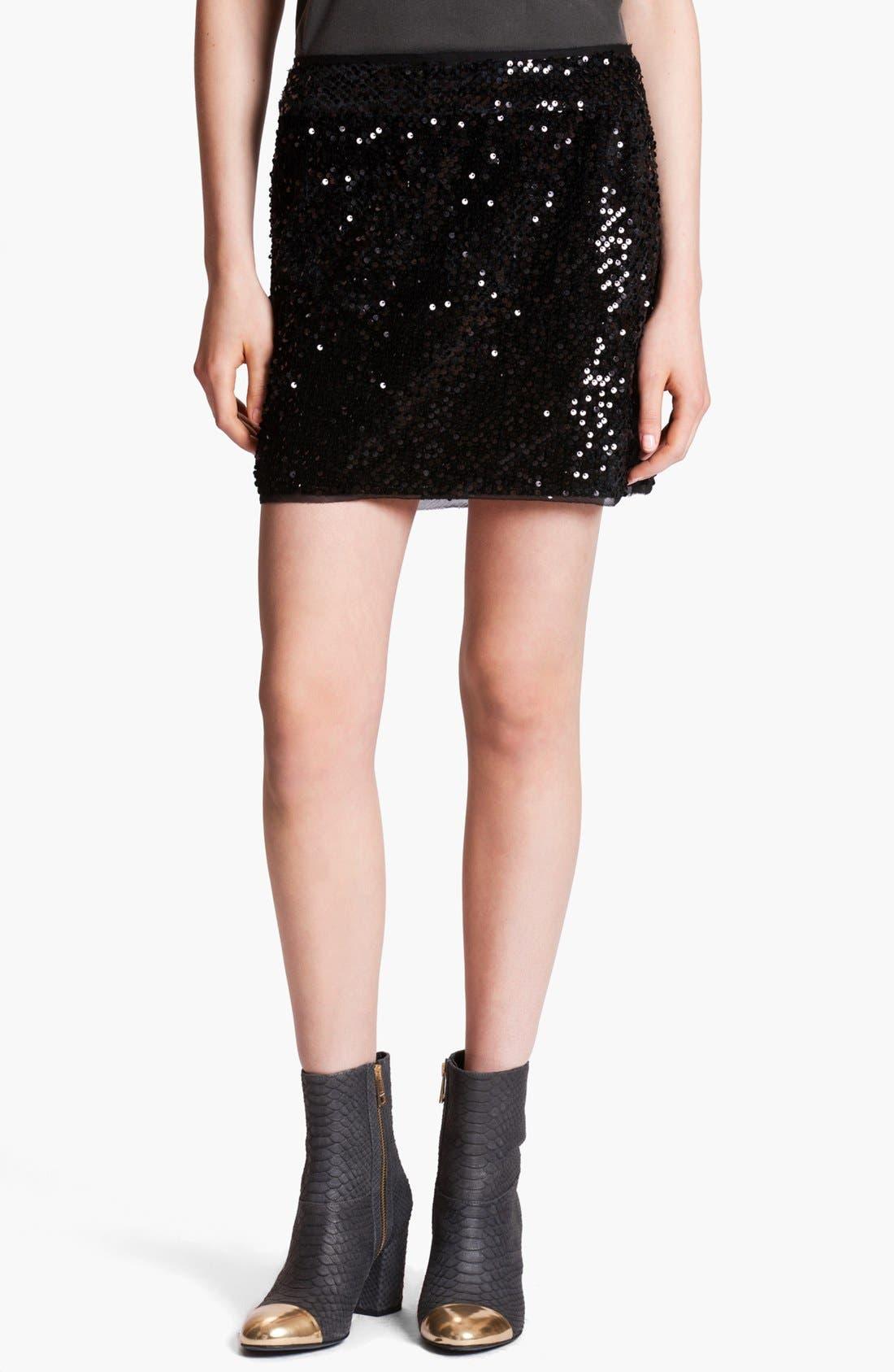 Main Image - Zadig & Voltaire 'Jasmi' Sequin Miniskirt