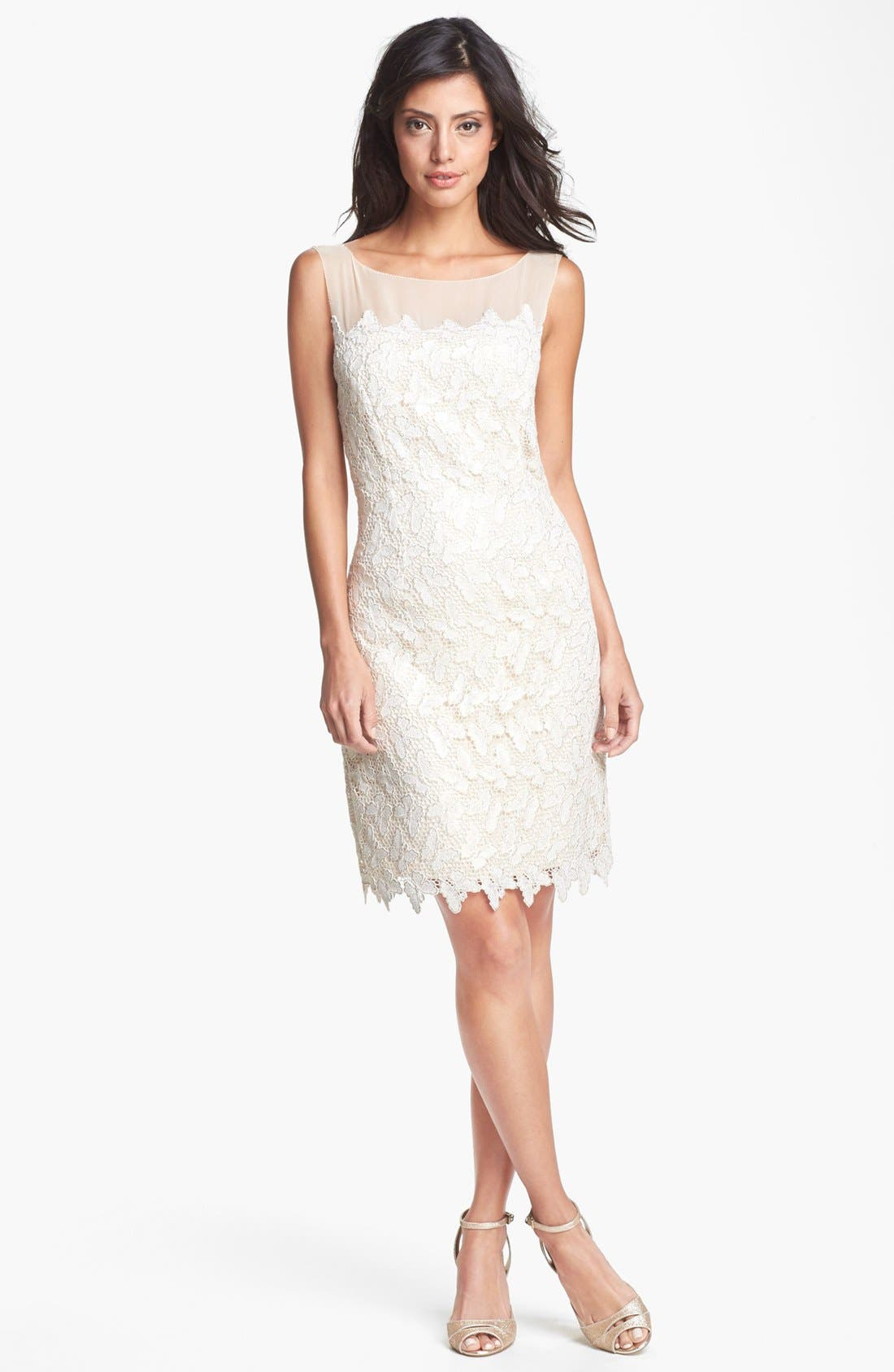 Alternate Image 1 Selected - Lilly Pulitzer® 'Fulton' Foiled Lace Cotton Sheath Dress