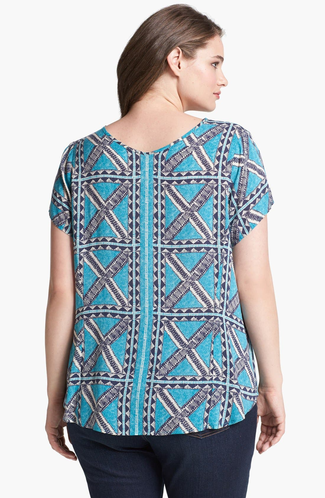 Alternate Image 2  - Lucky Brand 'Brier Peter Dunham' Print Tee (Plus Size)