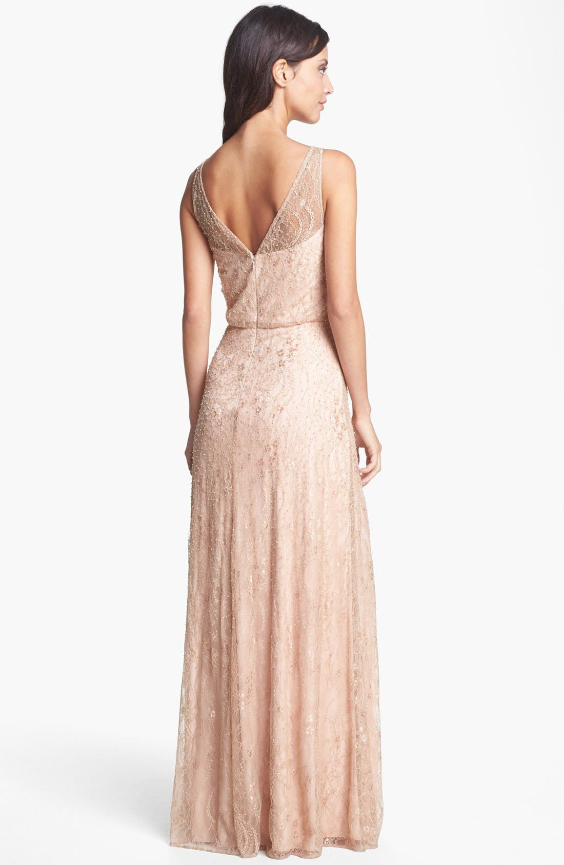 Alternate Image 2  - Aidan Mattox Embellished Lace Gown