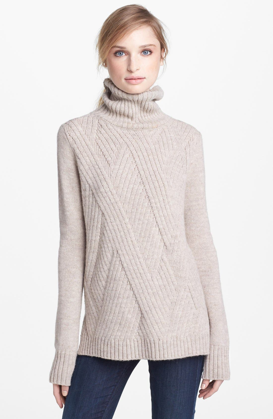 Alternate Image 1 Selected - Vince 'Travelling' Ribbed Turtleneck Sweater