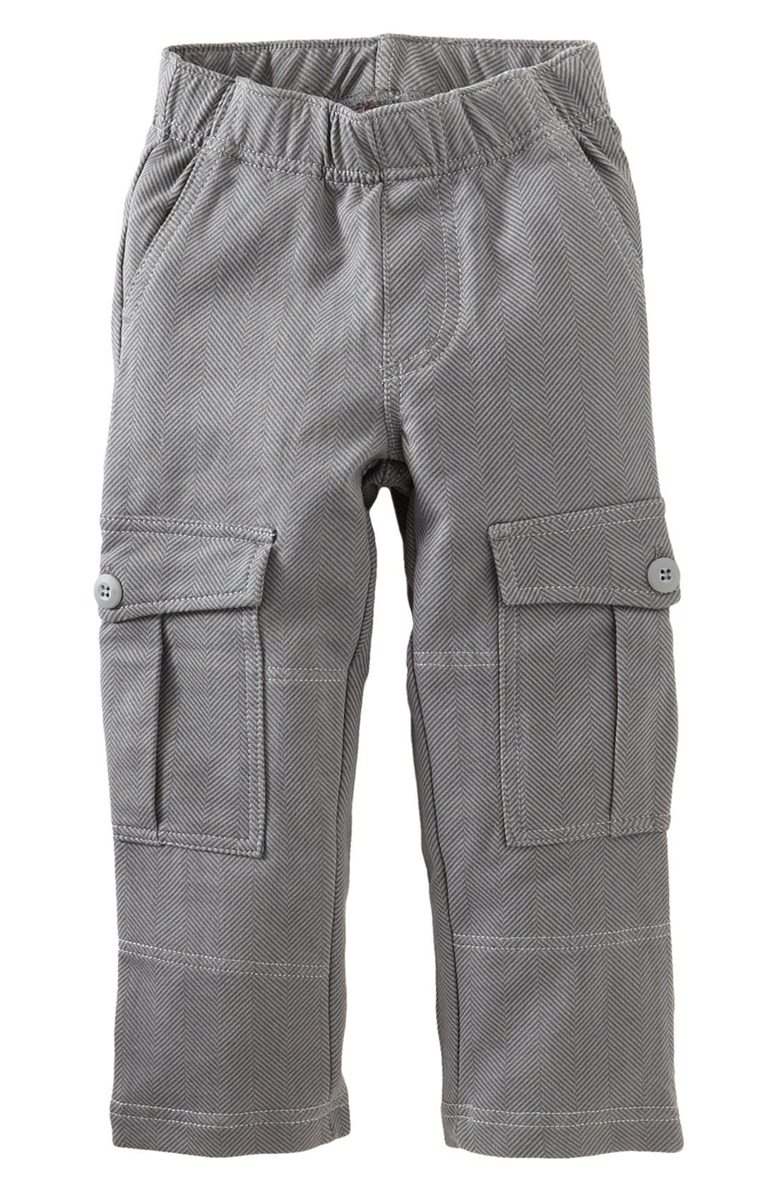 Main Image - Tea Collection Herringbone Cargo Pants (Toddler Boys)