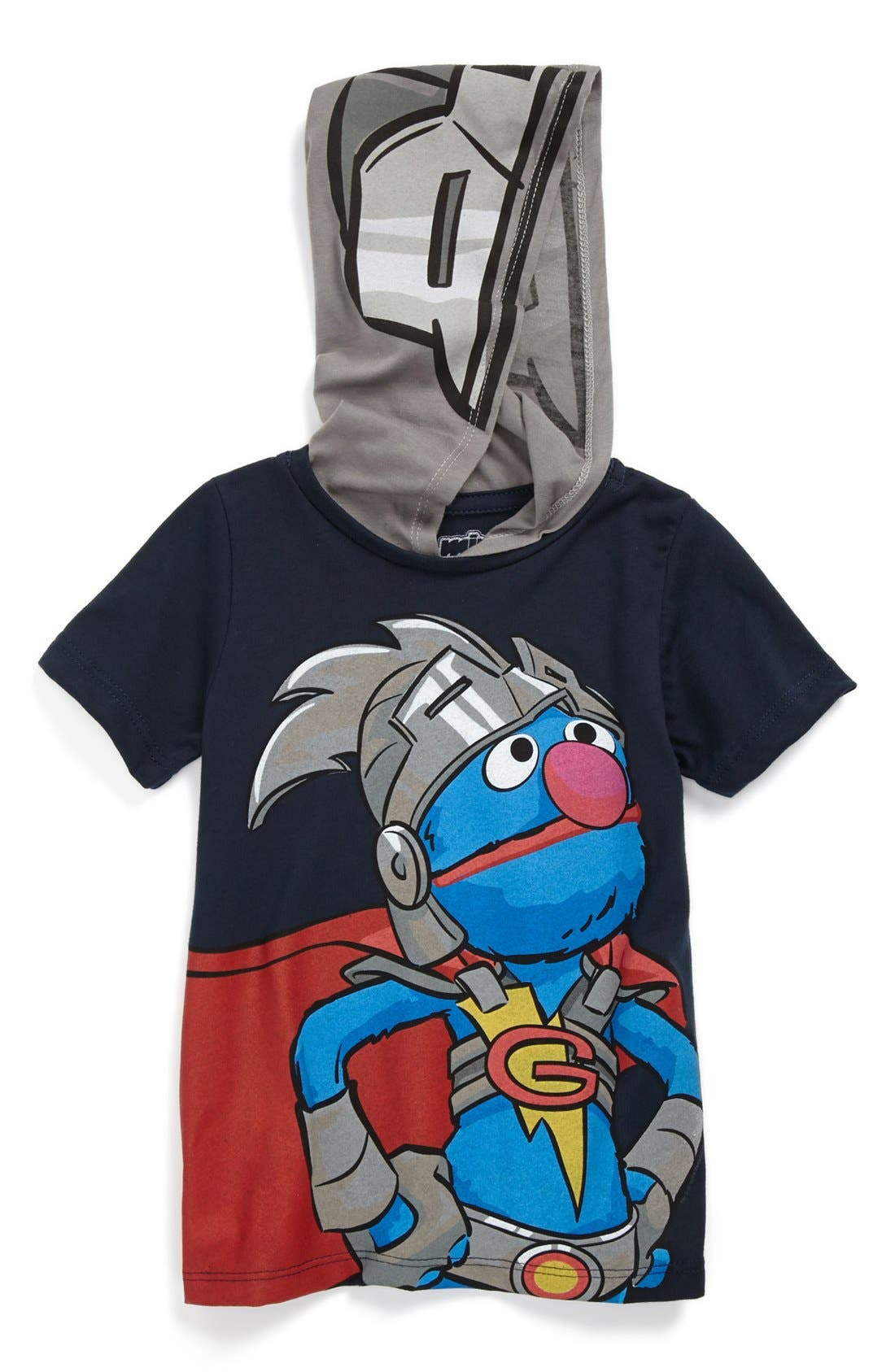 Main Image - Mighty Fine 'Super Grover' Hoodie (Baby Boys)