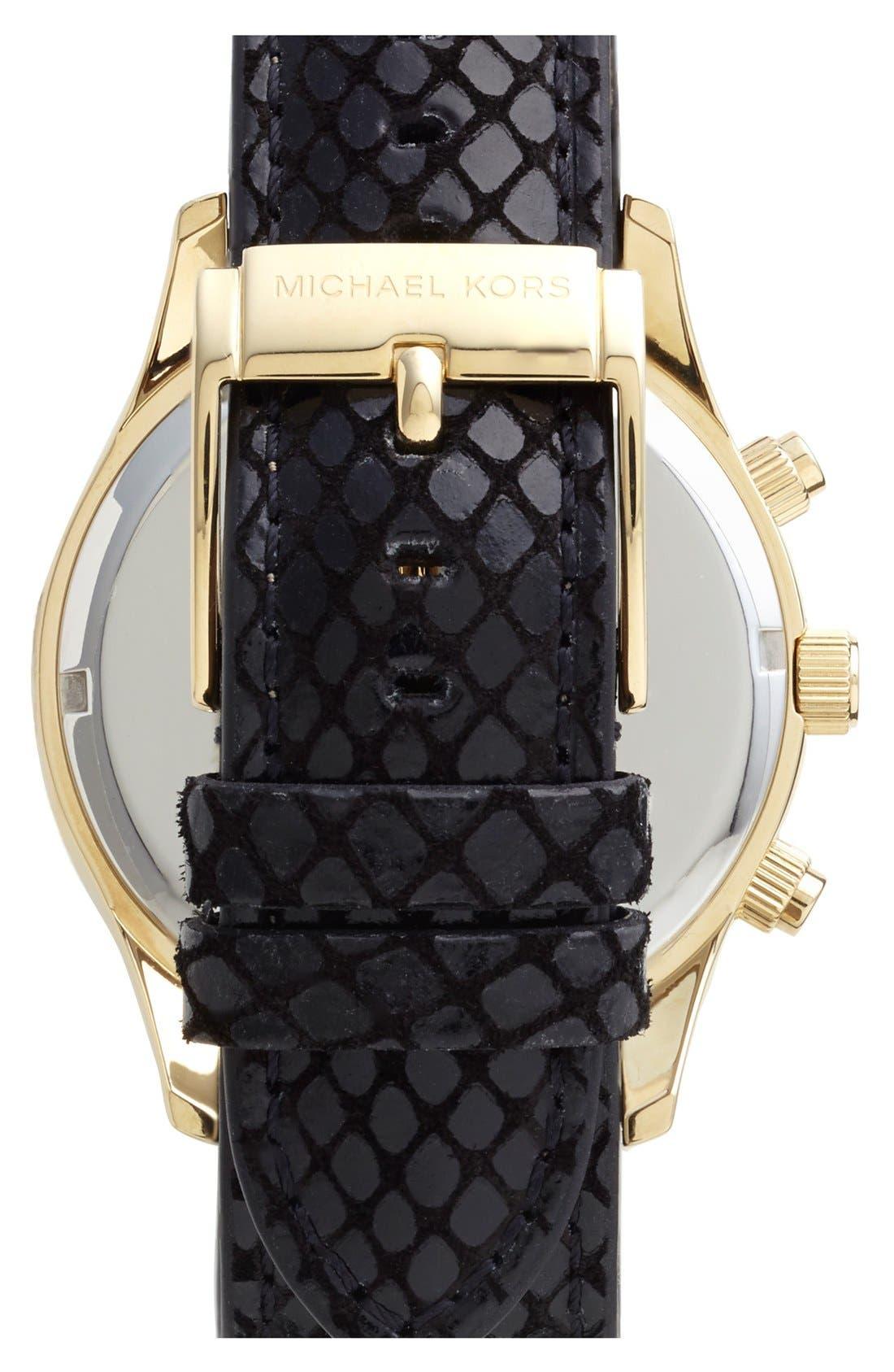 Alternate Image 2  - Michael Kors 'Layton' Pavé Dial Chronograph Watch, 44mm