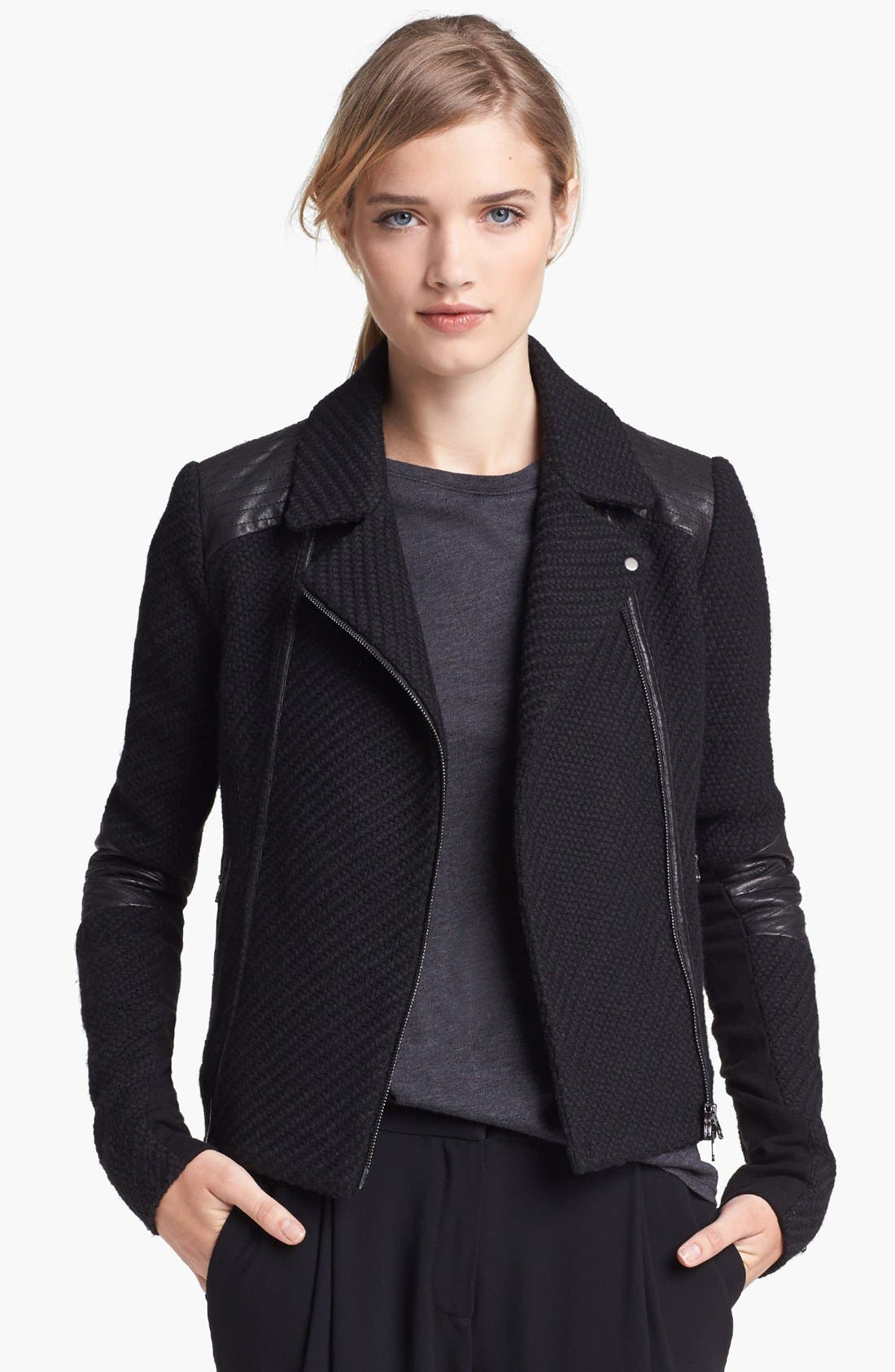 Alternate Image 1 Selected - Vince Bouclé Moto Jacket