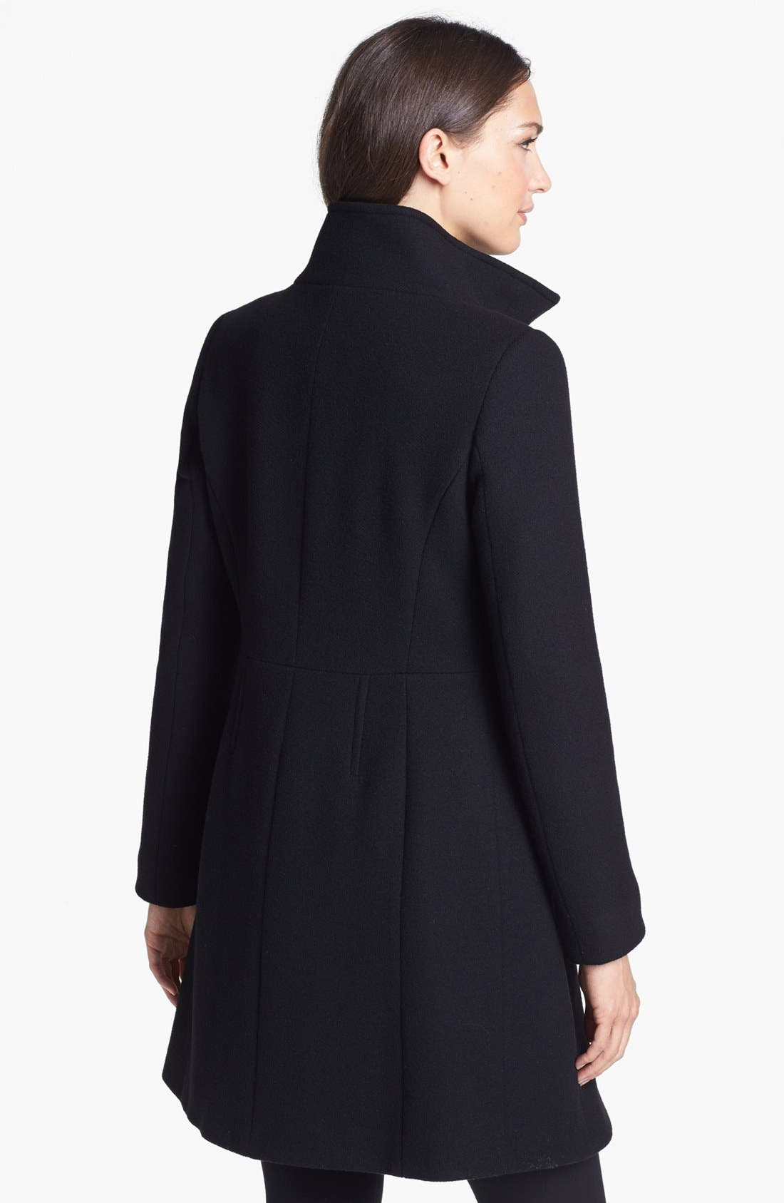 Alternate Image 2  - Elie Tahari 'Loraina' Zip Front Wool Blend Long Coat