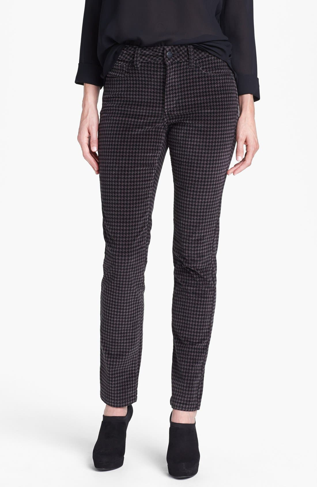 Alternate Image 1 Selected - NYDJ Houndstooth Stretch Corduroy Pants