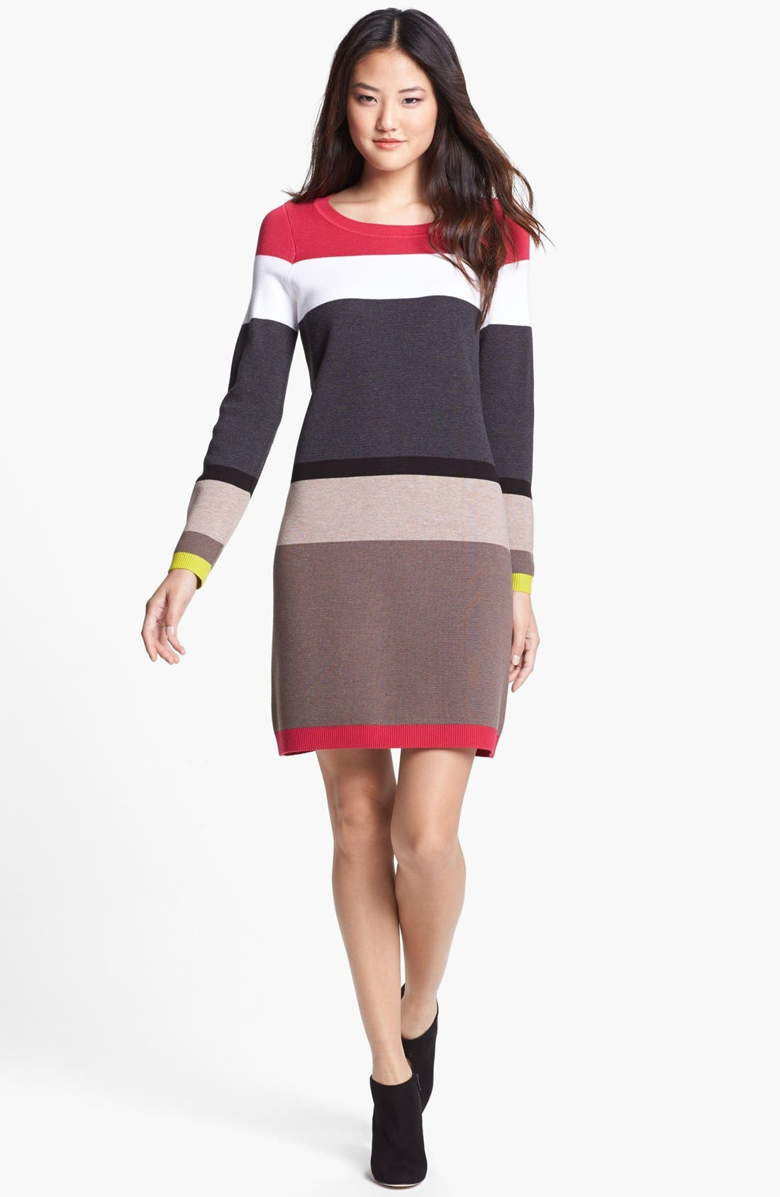 Alternate Image 1 Selected - Eliza J Stripe Sweater Dress