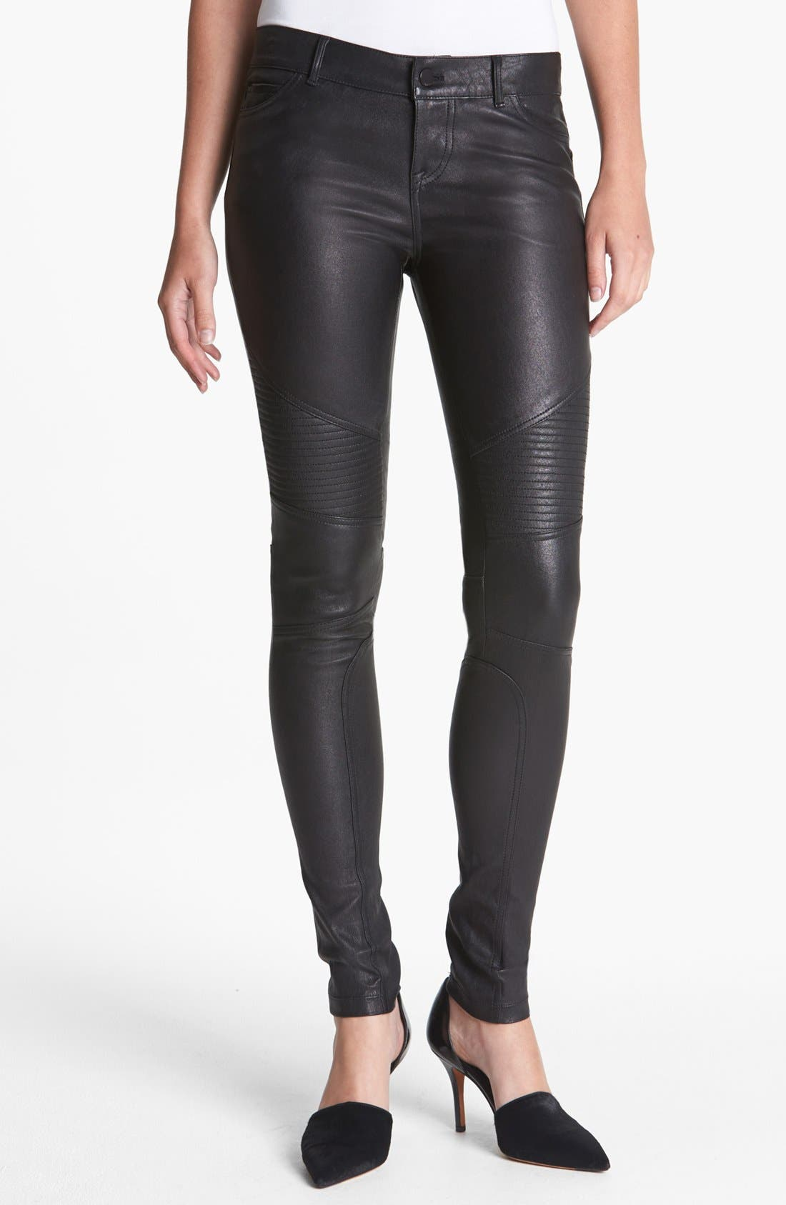 Alternate Image 1 Selected - Vince Leather Moto Pants
