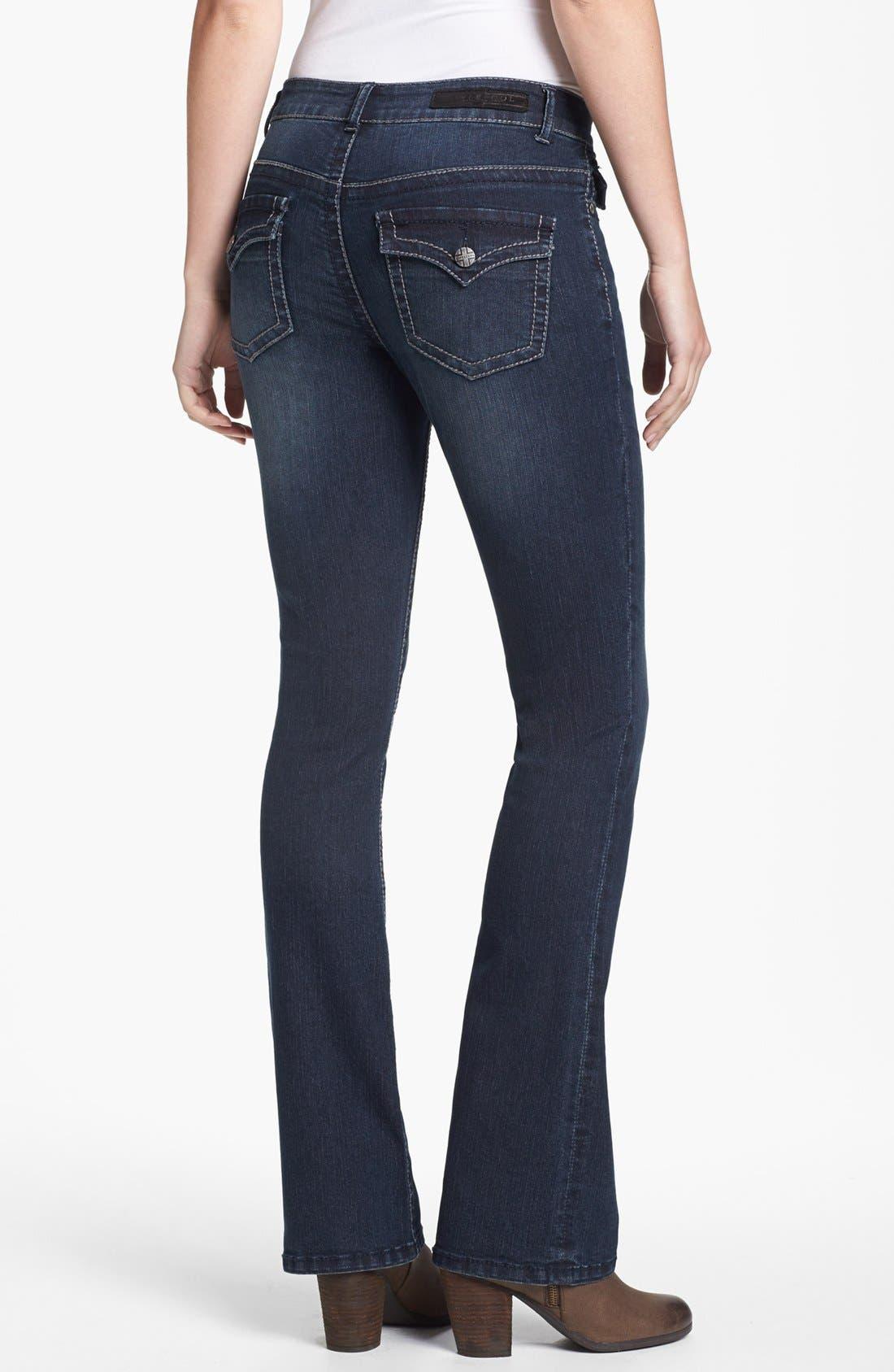 Alternate Image 2  - Liverpool Jeans Company 'Rita' Flap Pocket Stretch Bootcut Jeans