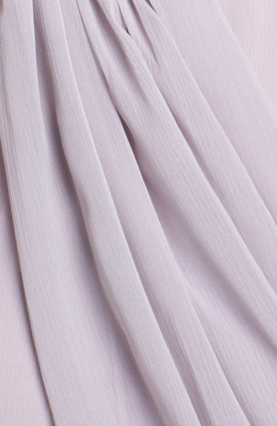 Alternate Image 3  - Lela Rose Bridesmaid Draped Chiffon Dress