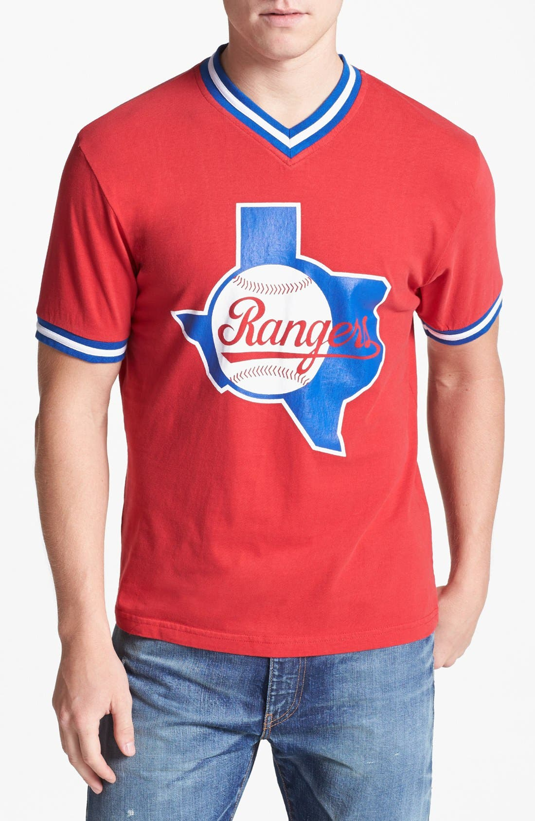 Main Image - Wright & Ditson 'Texas Rangers' V-Neck T-Shirt